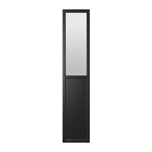 oxberg panneau porte vitr e brun noir ikea. Black Bedroom Furniture Sets. Home Design Ideas