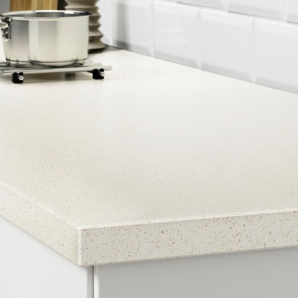 Oxsten Plan De Travail Sur Mesure Blanc Motif Mineral Quartz Ikea