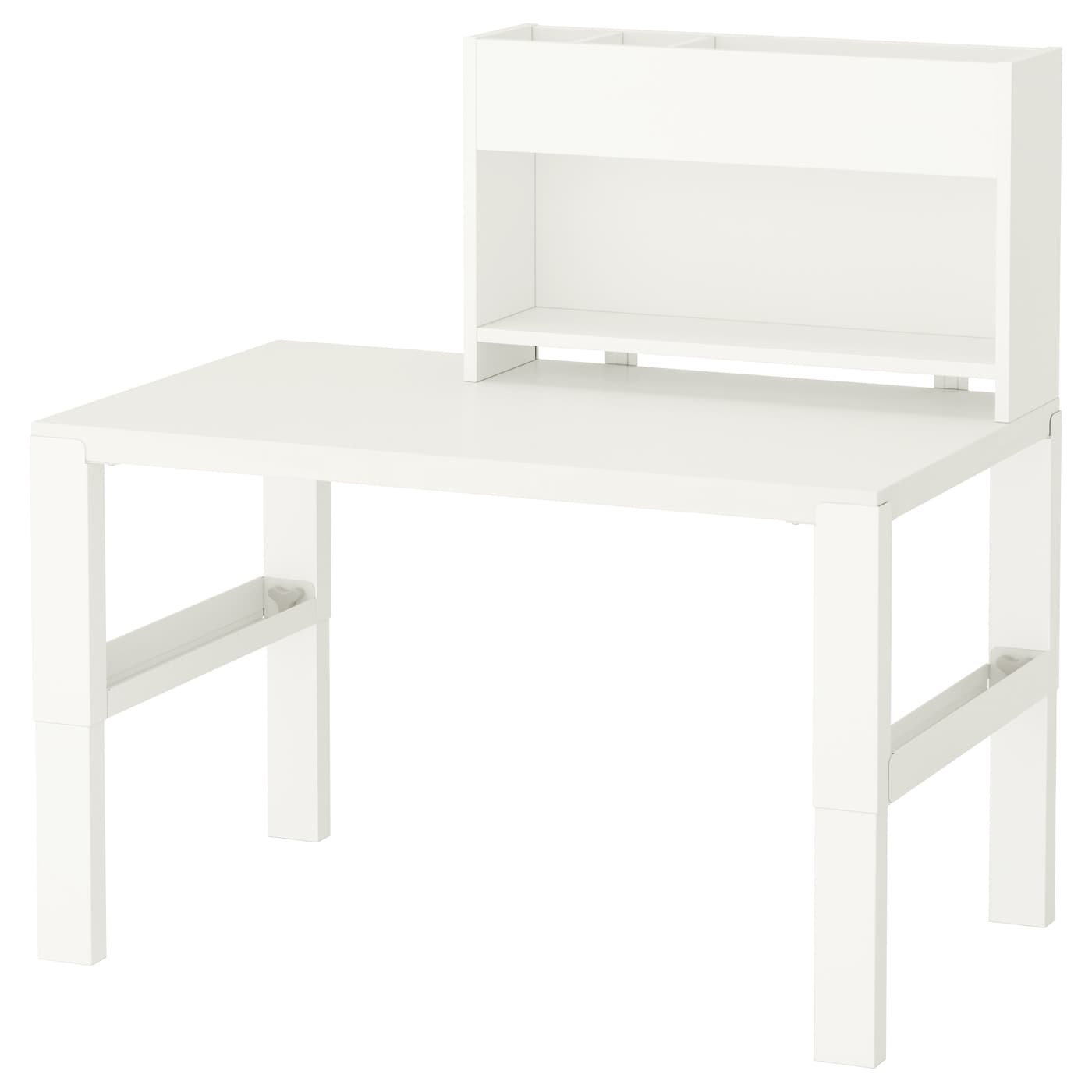 p hl bureau avec l ment compl mentaire blanc 96 x 58 cm ikea. Black Bedroom Furniture Sets. Home Design Ideas