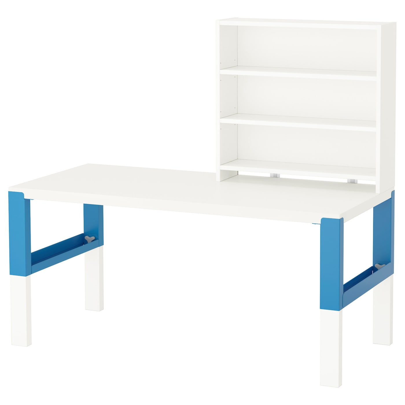 p hl bureau avec tablette blanc bleu 128 x 58 cm ikea. Black Bedroom Furniture Sets. Home Design Ideas