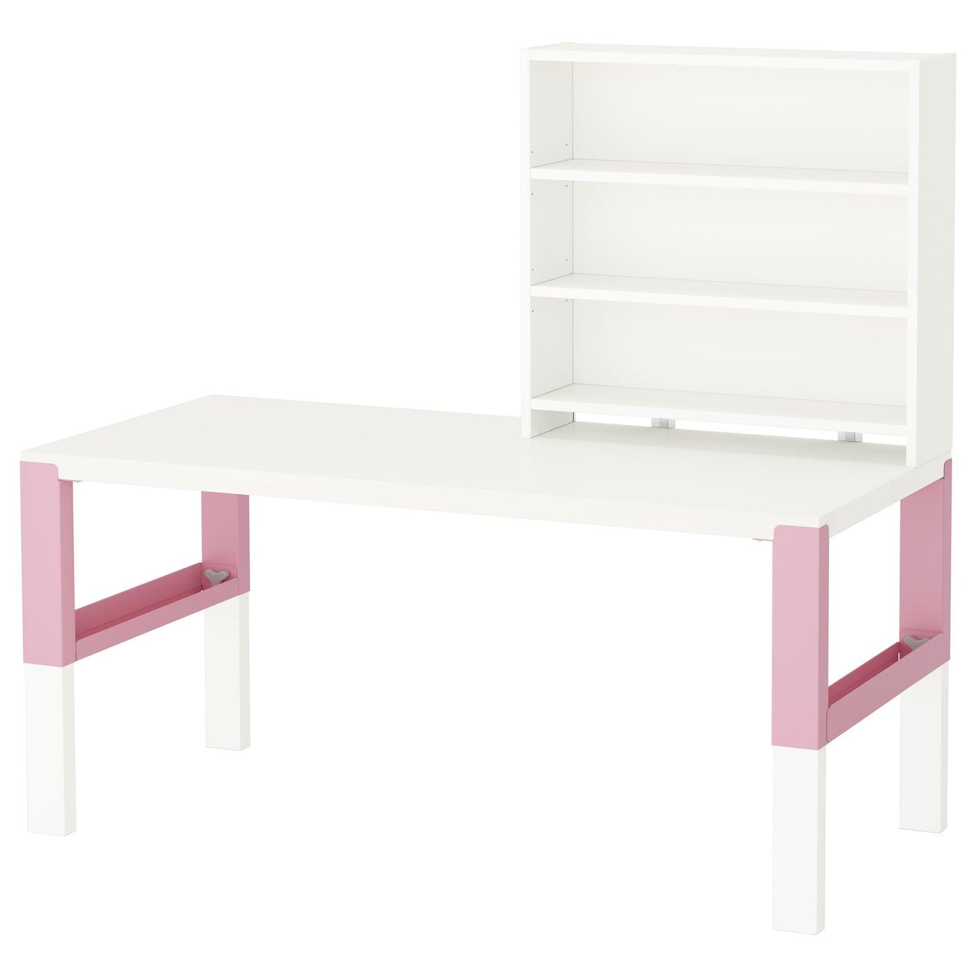 p hl bureau avec tablette blanc rose 128 x 58 cm ikea. Black Bedroom Furniture Sets. Home Design Ideas