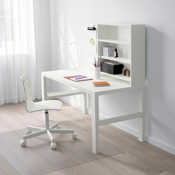 PÅHL Bureau avec tablette, blanc, 128x58 cm