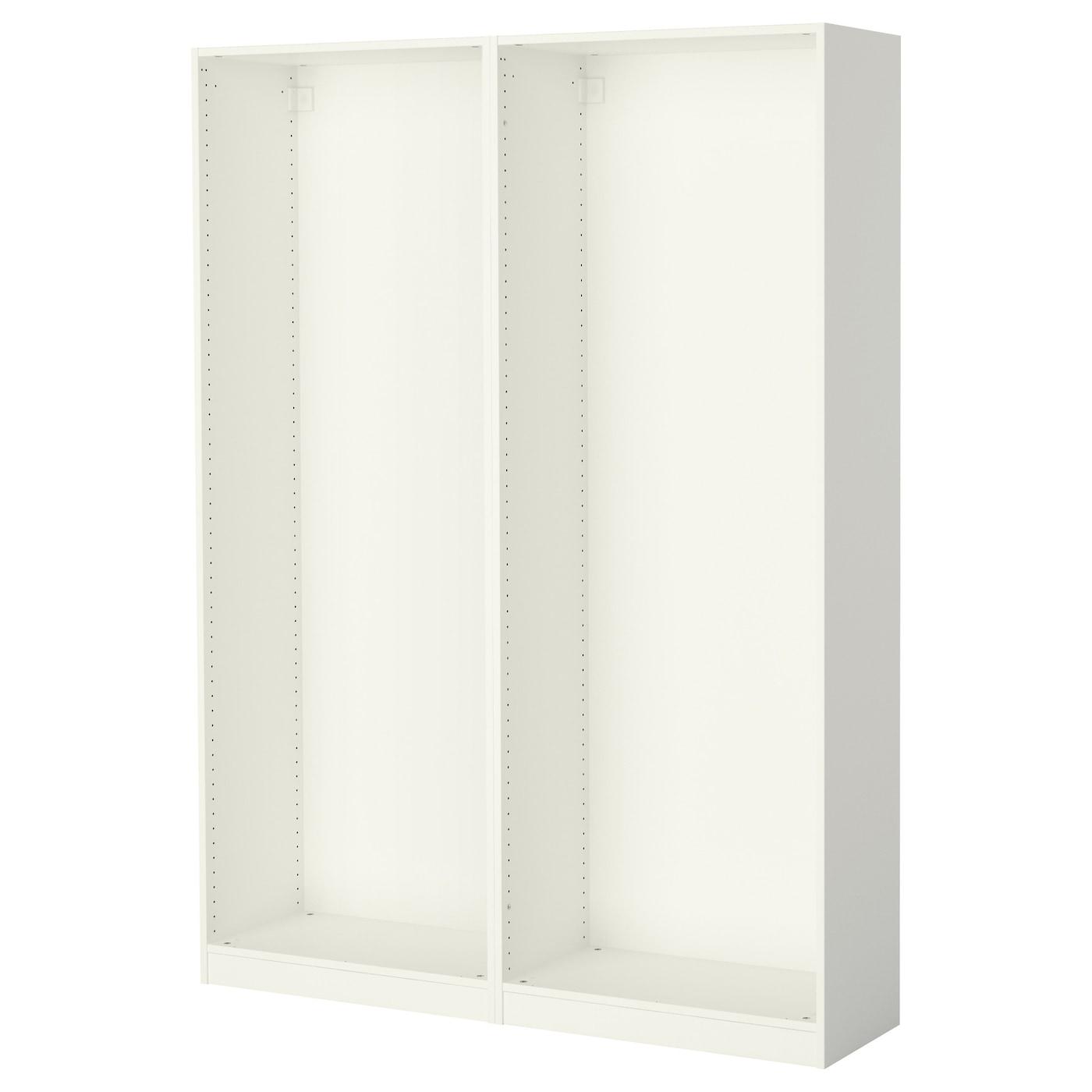 pax 2 caissons armoire blanc 150x35x201 cm ikea. Black Bedroom Furniture Sets. Home Design Ideas