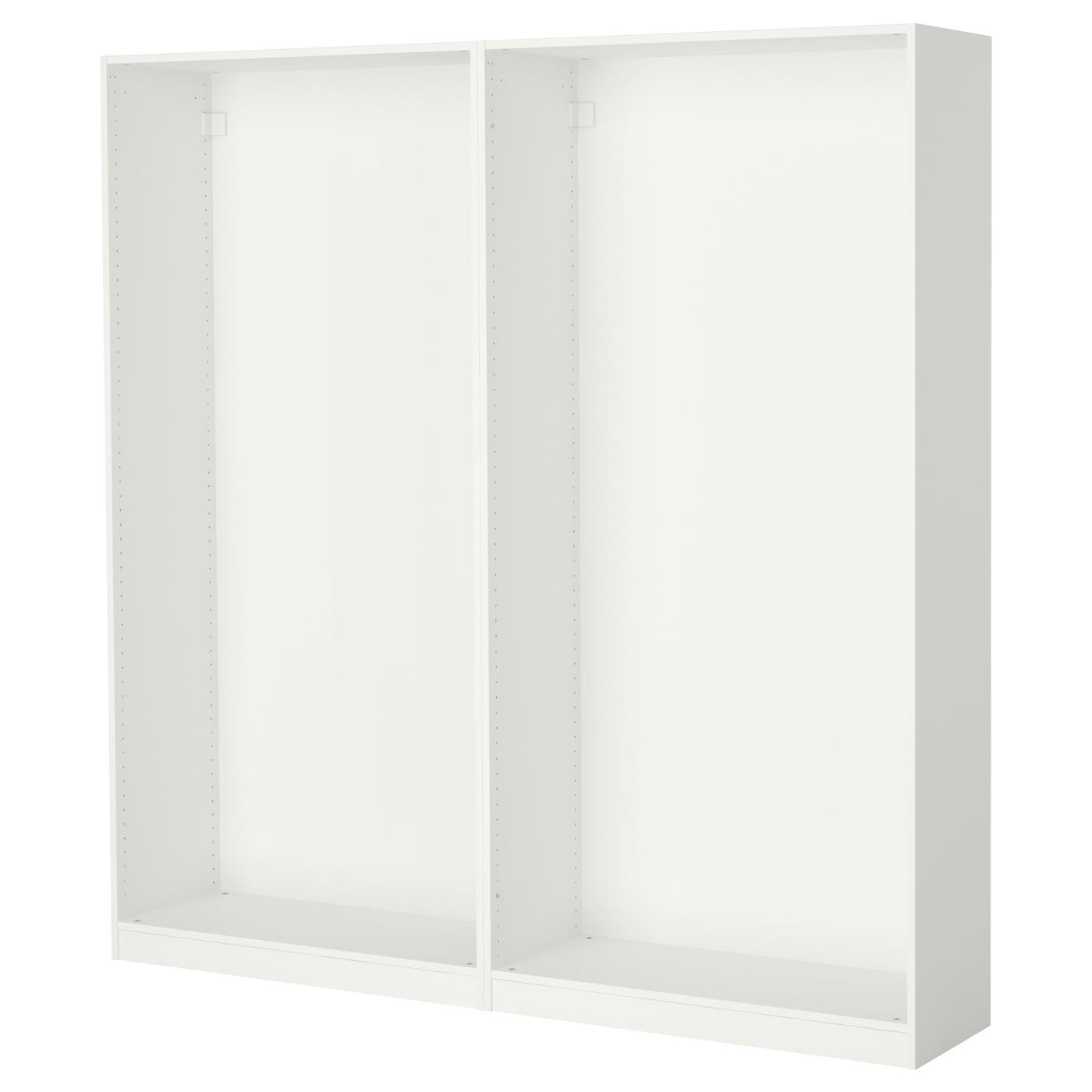 pax 2 caissons armoire blanc 200 x 35 x 201 cm ikea. Black Bedroom Furniture Sets. Home Design Ideas