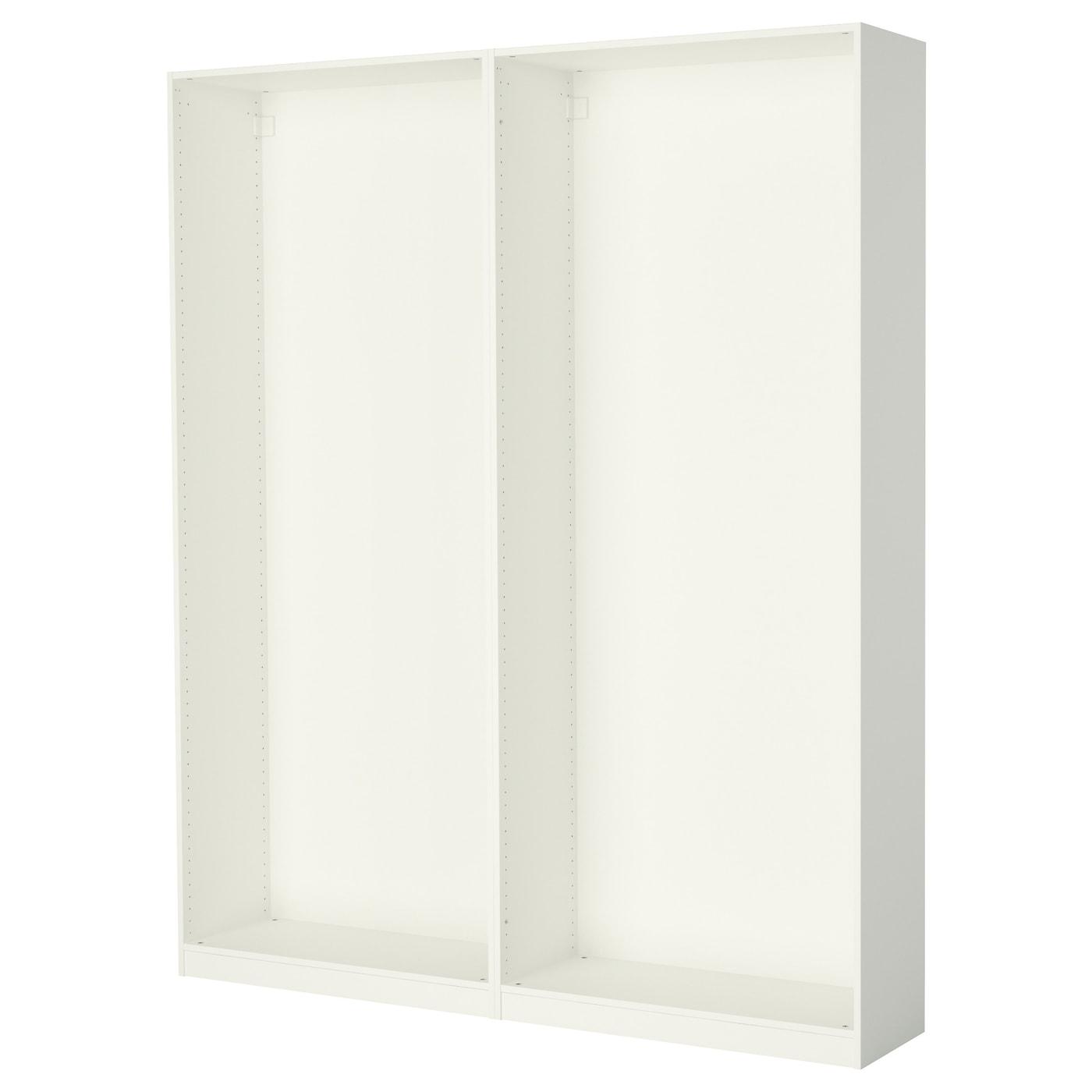 Pax 2 caissons armoire blanc 200 x 35 x 236 cm ikea - Armoire peu profonde ...