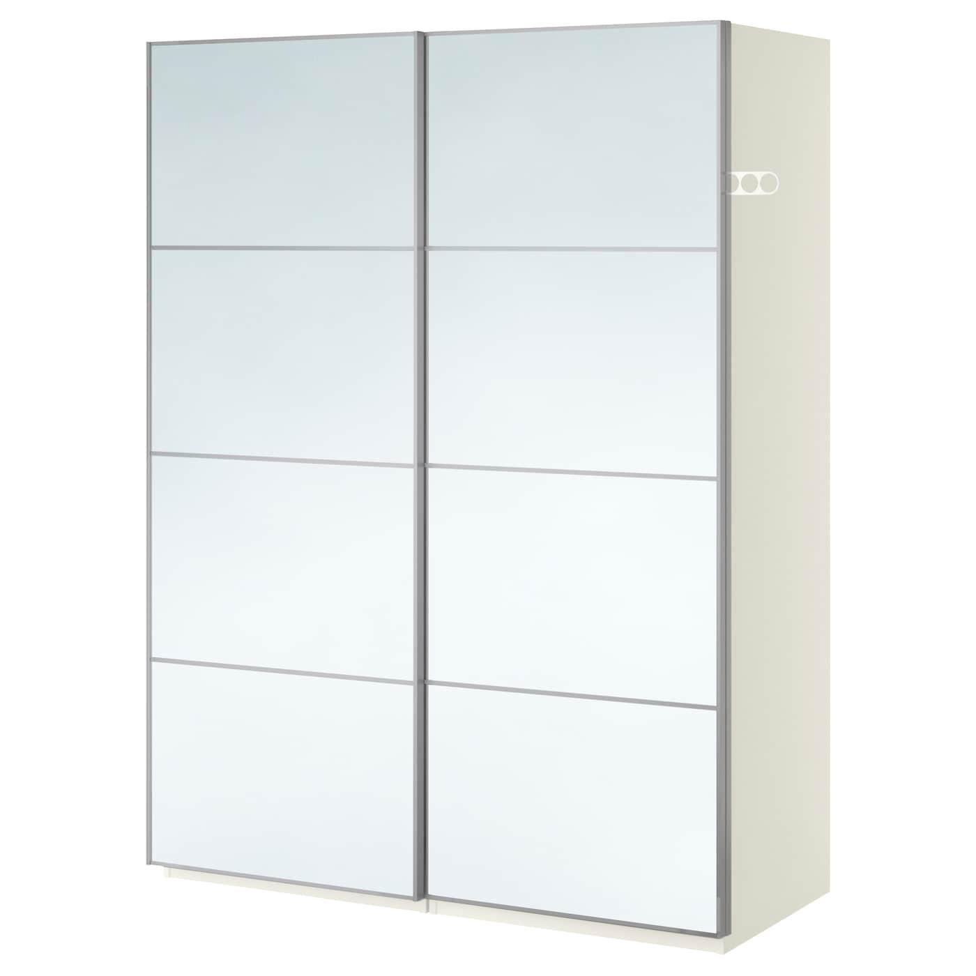 Pax armoire penderie blanc auli miroir 150x66x201 cm ikea - Armoire penderie miroir ...
