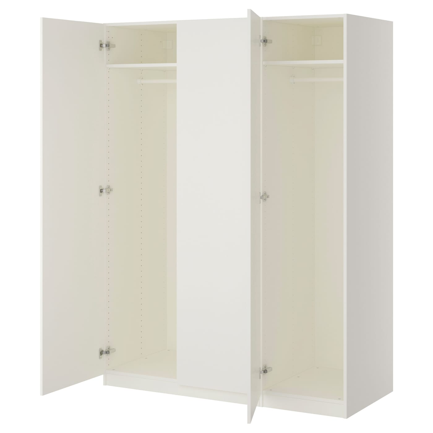 pax armoire penderie blanc ballstad blanc 150x60x201 cm ikea. Black Bedroom Furniture Sets. Home Design Ideas