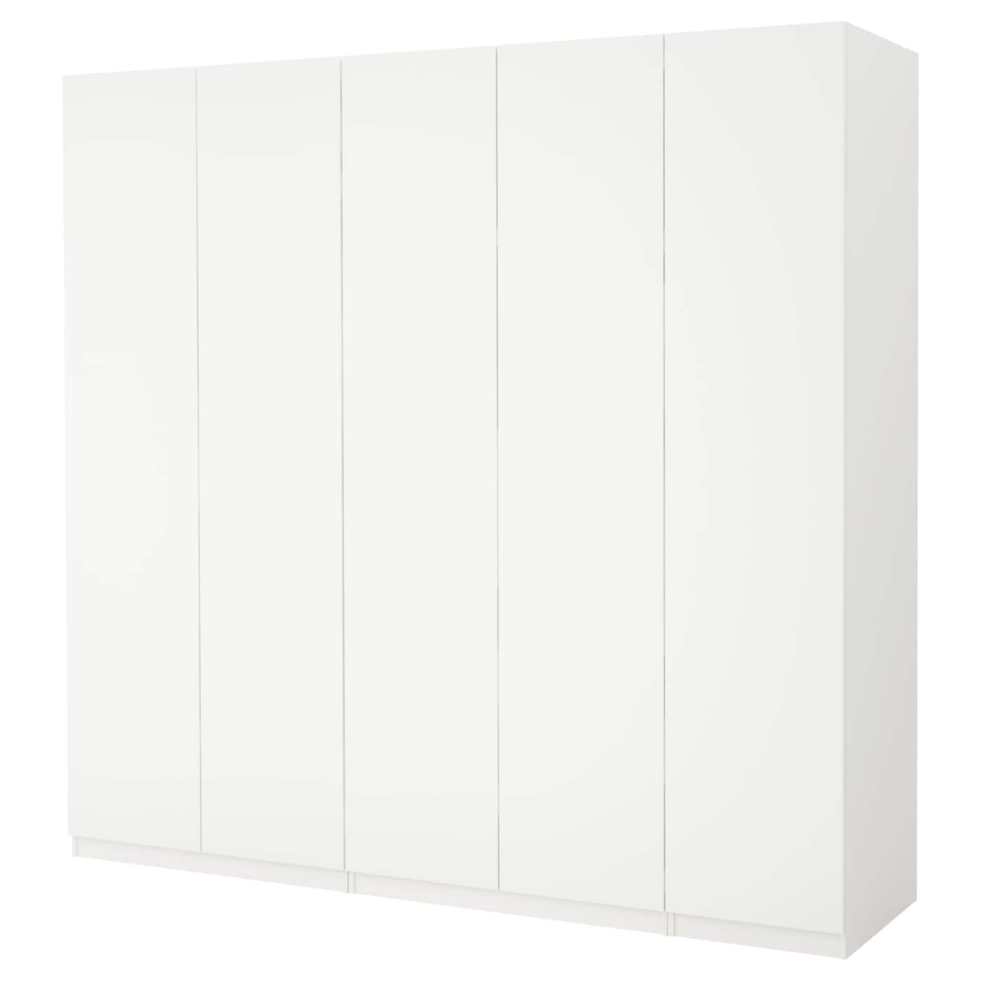 Pax armoire penderie blanc ballstad blanc 250x60x236 cm ikea for Armoire peu profonde