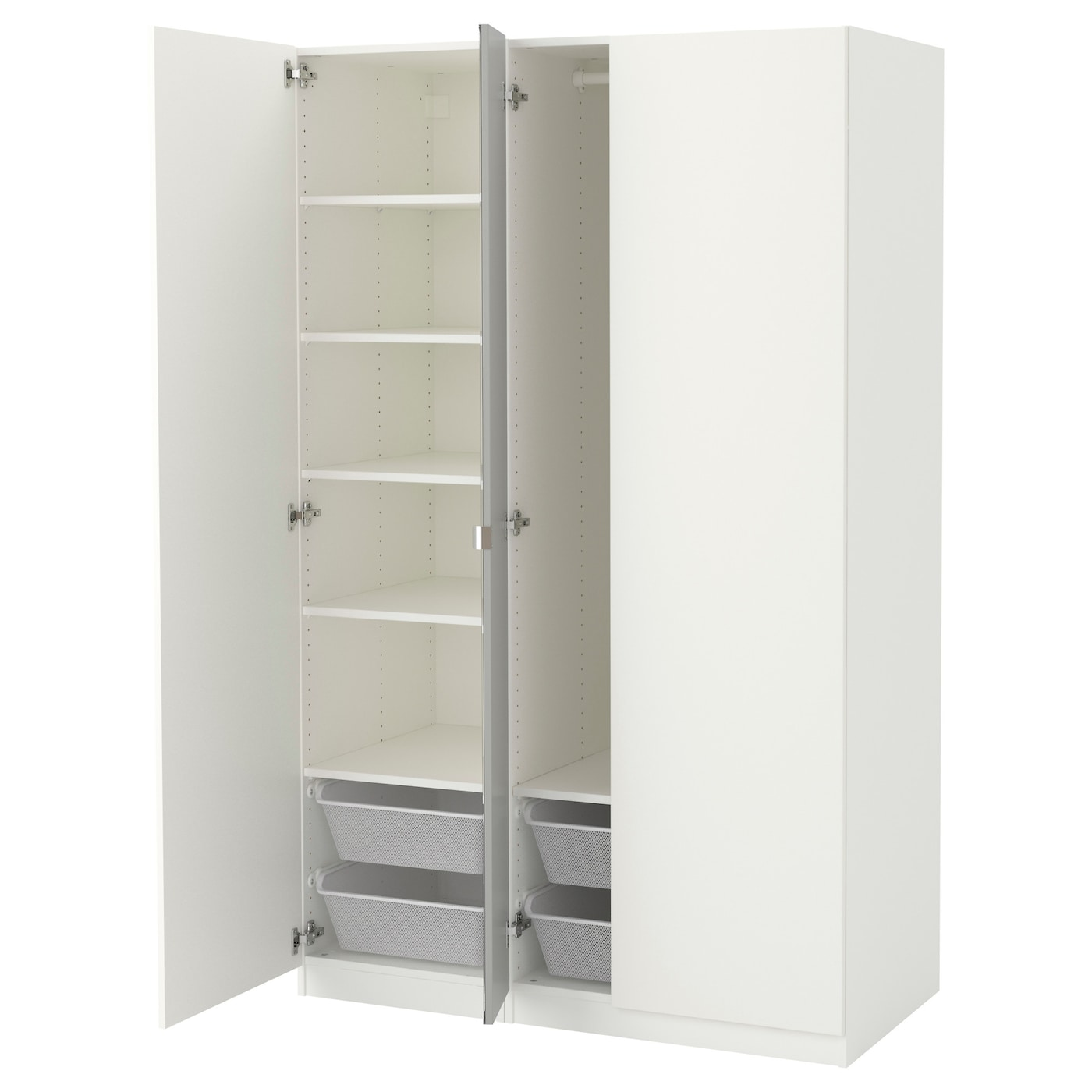 pax armoire penderie blanc ballstad vikedal 125x60x201 cm. Black Bedroom Furniture Sets. Home Design Ideas