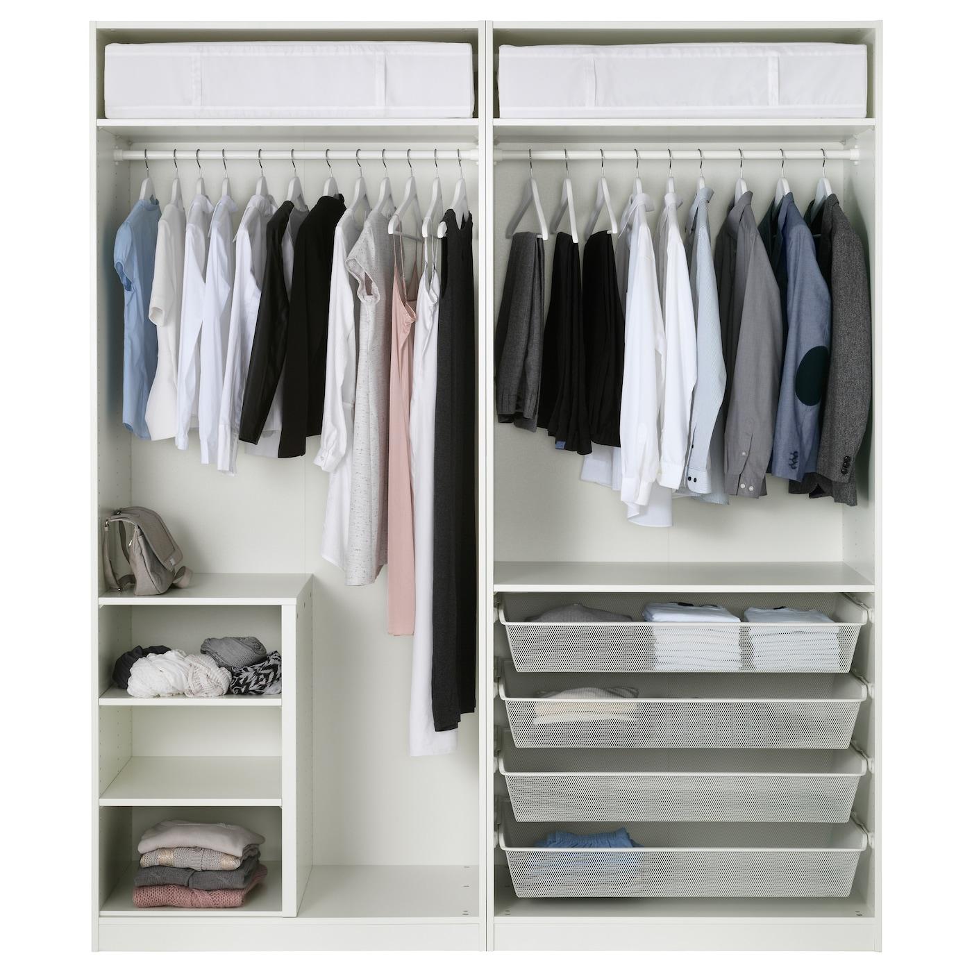 pax armoire penderie blanc bergsbo blanc 200x60x236 cm ikea. Black Bedroom Furniture Sets. Home Design Ideas