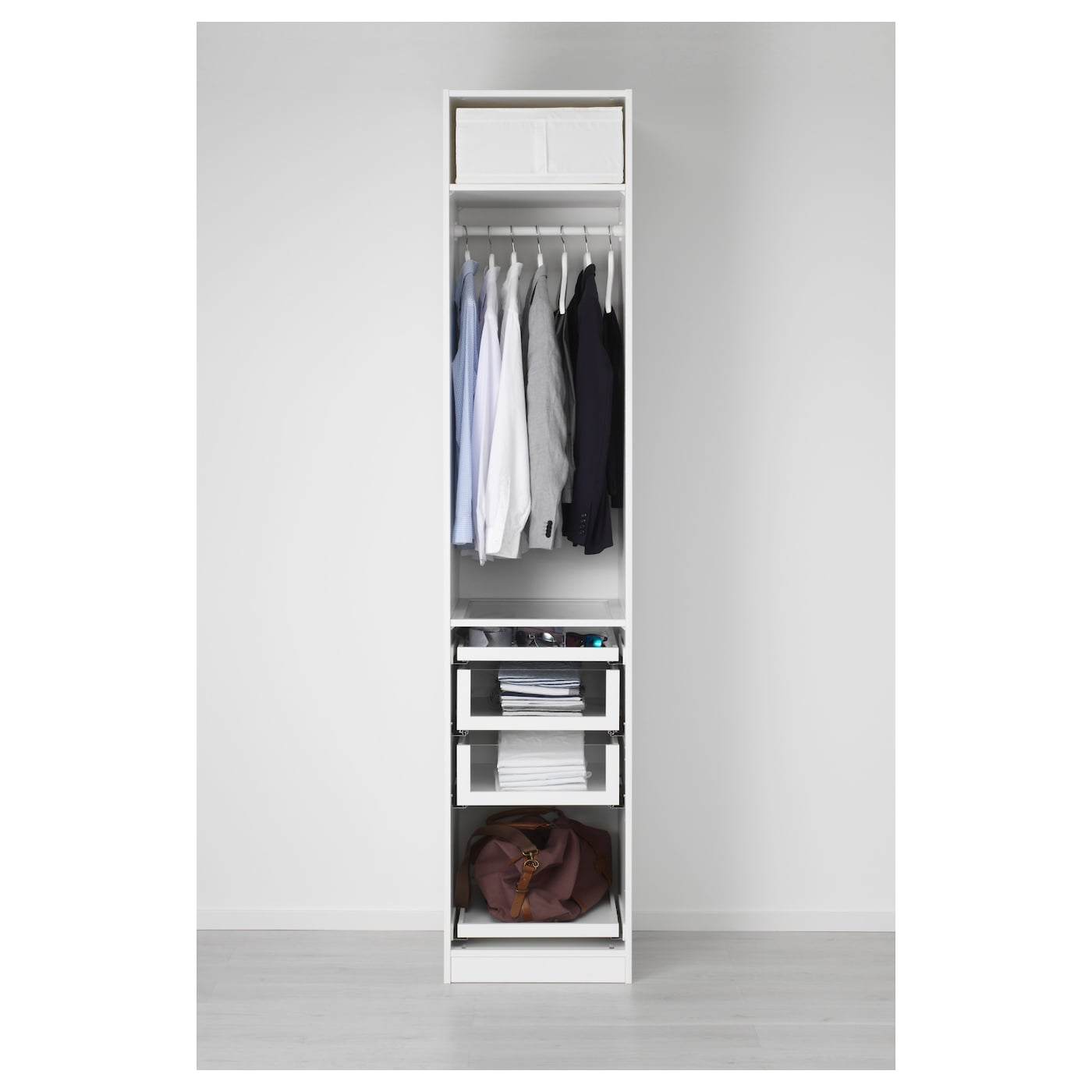 pax armoire penderie blanc bergsbo blanc 50 x 60 x 236 cm. Black Bedroom Furniture Sets. Home Design Ideas