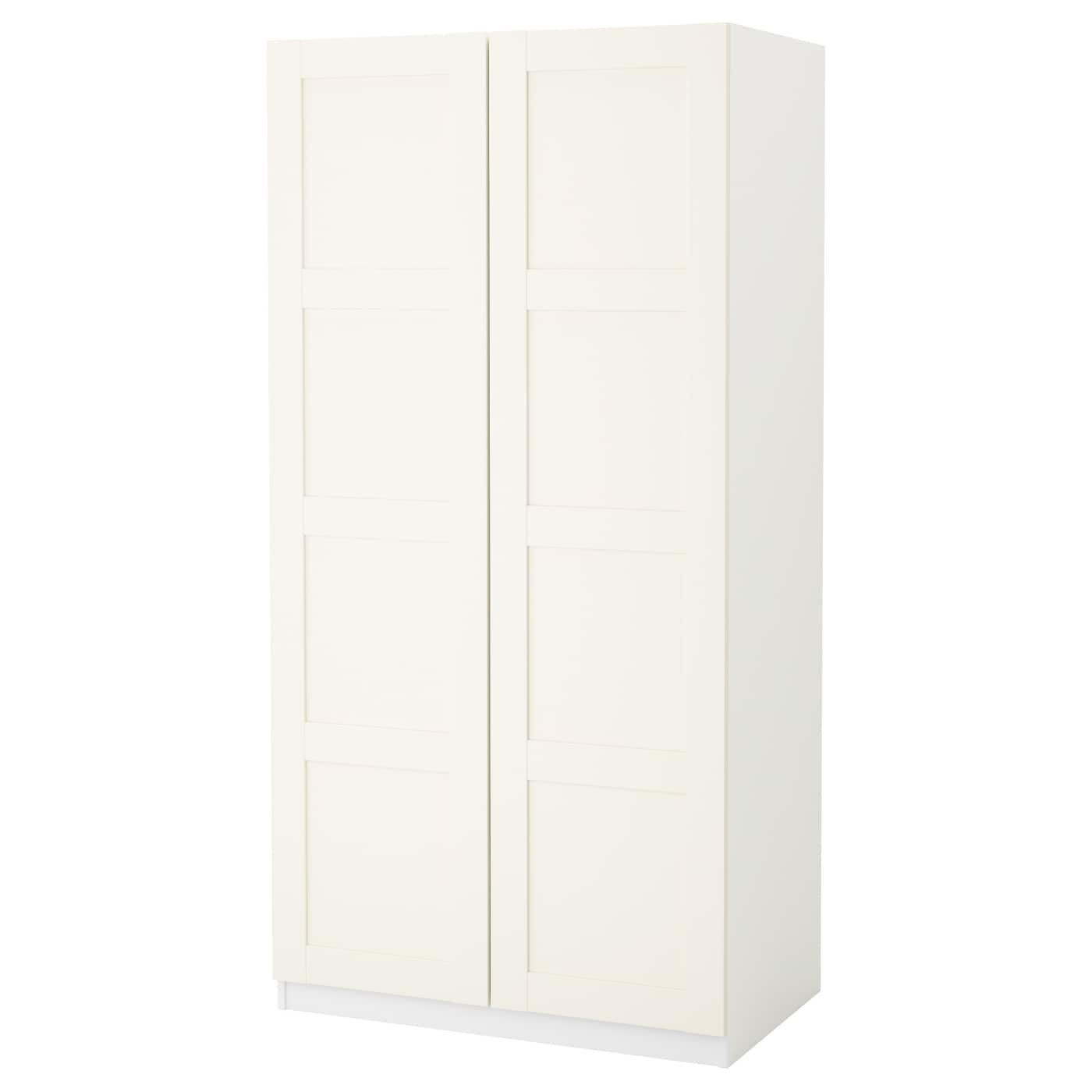 pax armoire penderie blanc bergsbo blanc 100 x 60 x 201 cm. Black Bedroom Furniture Sets. Home Design Ideas