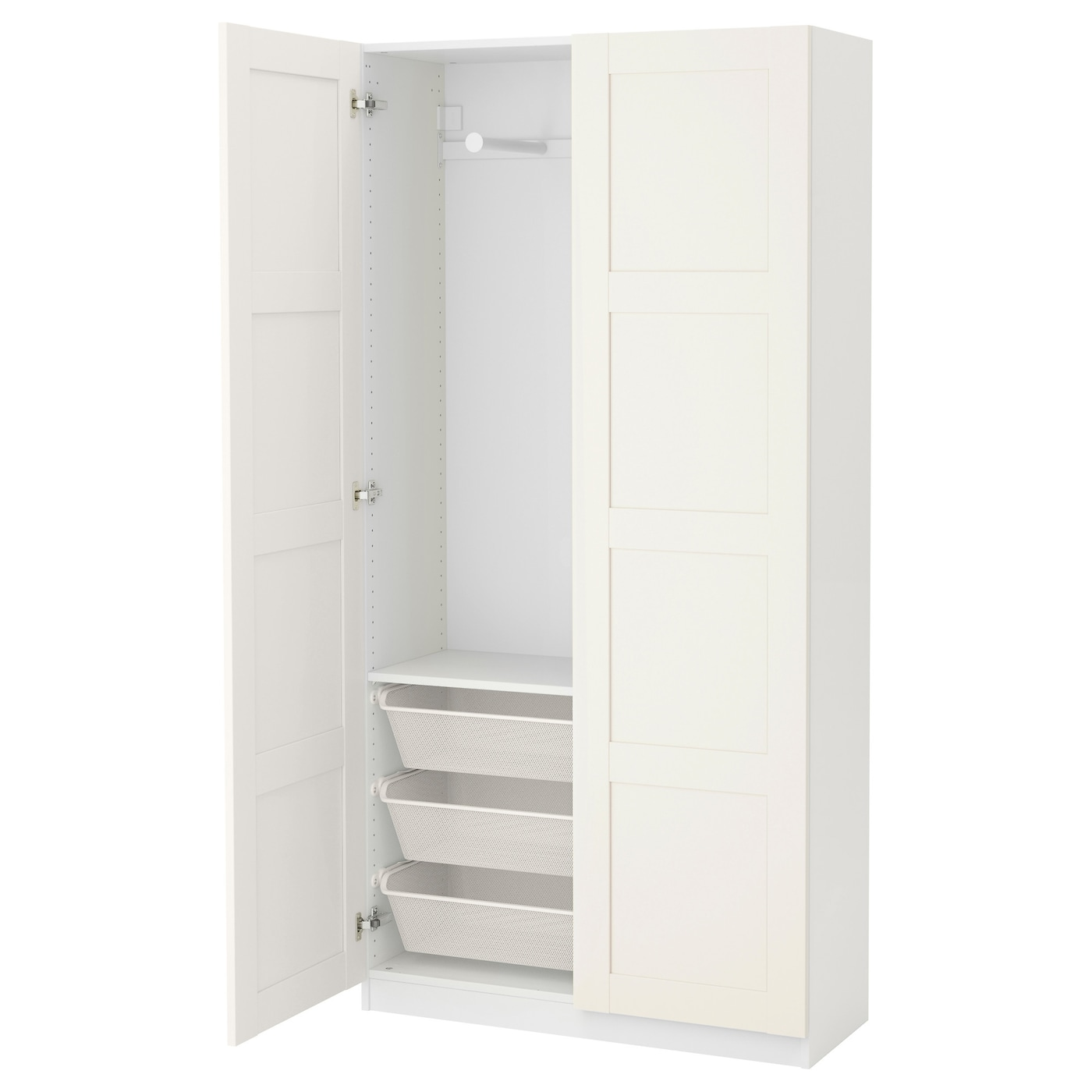 pax armoire penderie blanc bergsbo blanc 100 x 38 x 201 cm. Black Bedroom Furniture Sets. Home Design Ideas