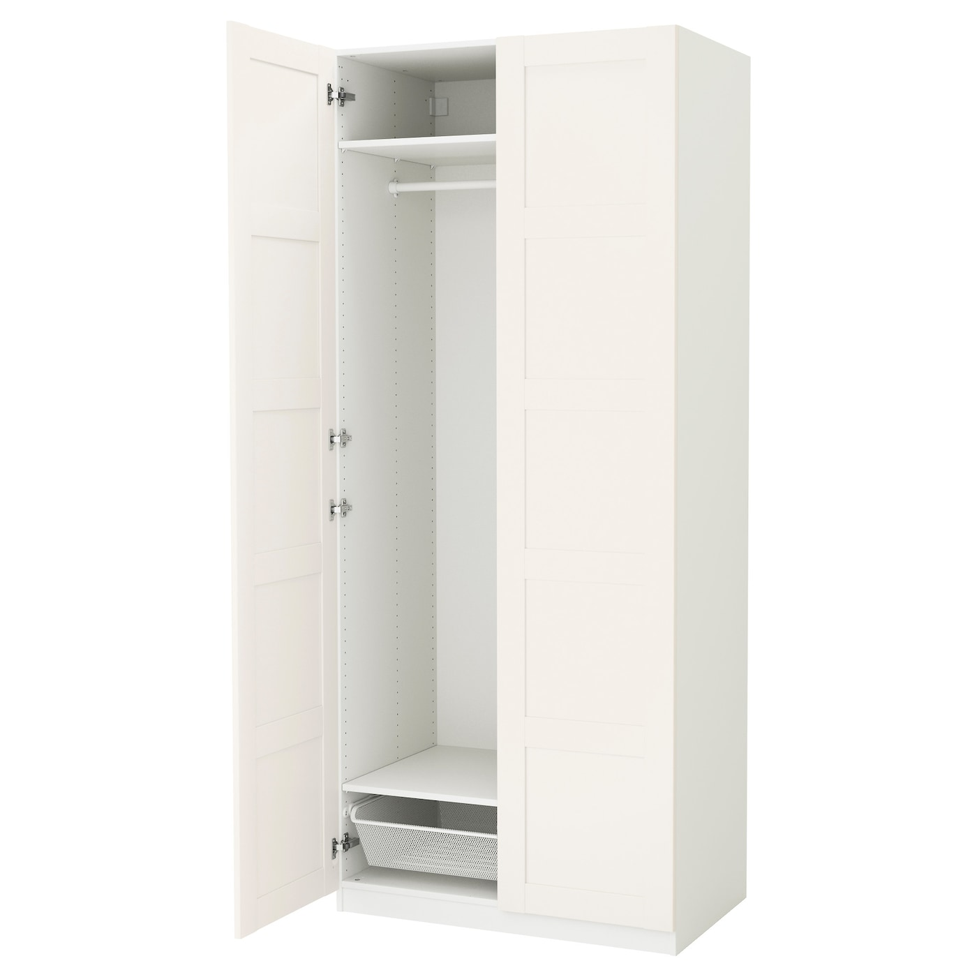 pax armoire penderie blanc bergsbo blanc 100x60x236 cm ikea. Black Bedroom Furniture Sets. Home Design Ideas