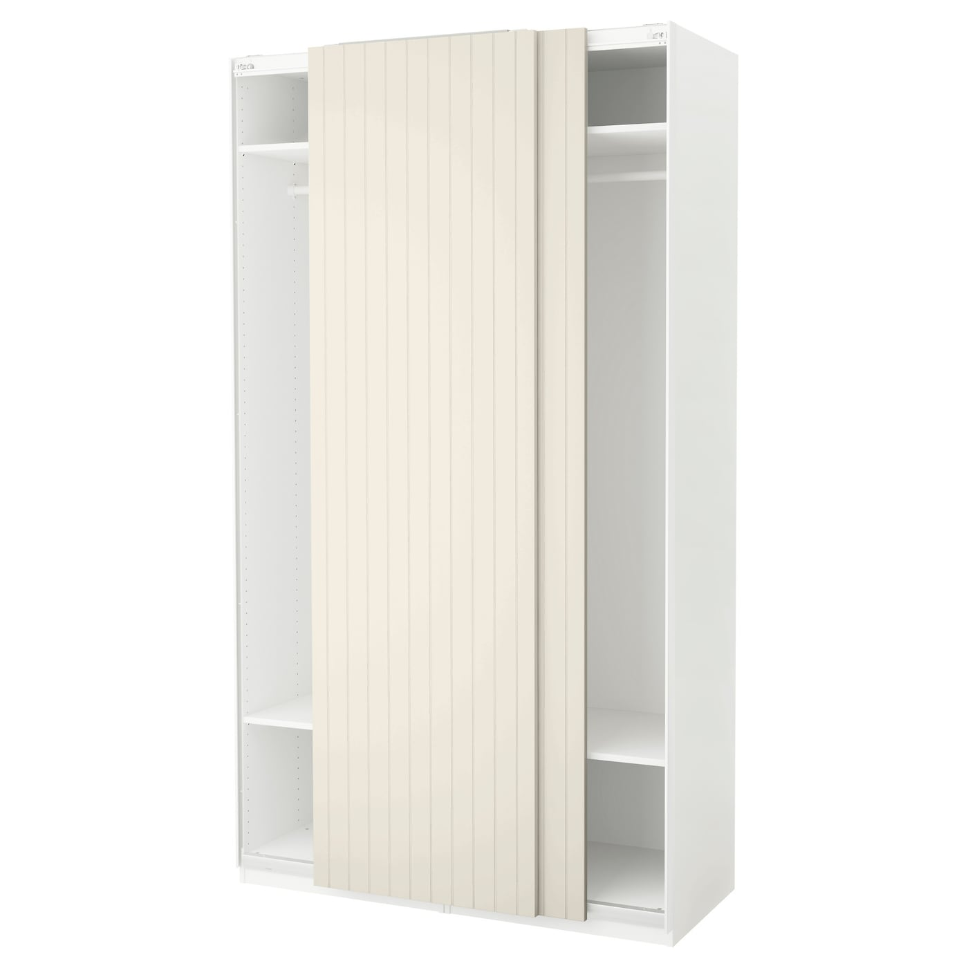 pax armoire penderie blanc bergsfjord blanc 150x66x236 cm. Black Bedroom Furniture Sets. Home Design Ideas