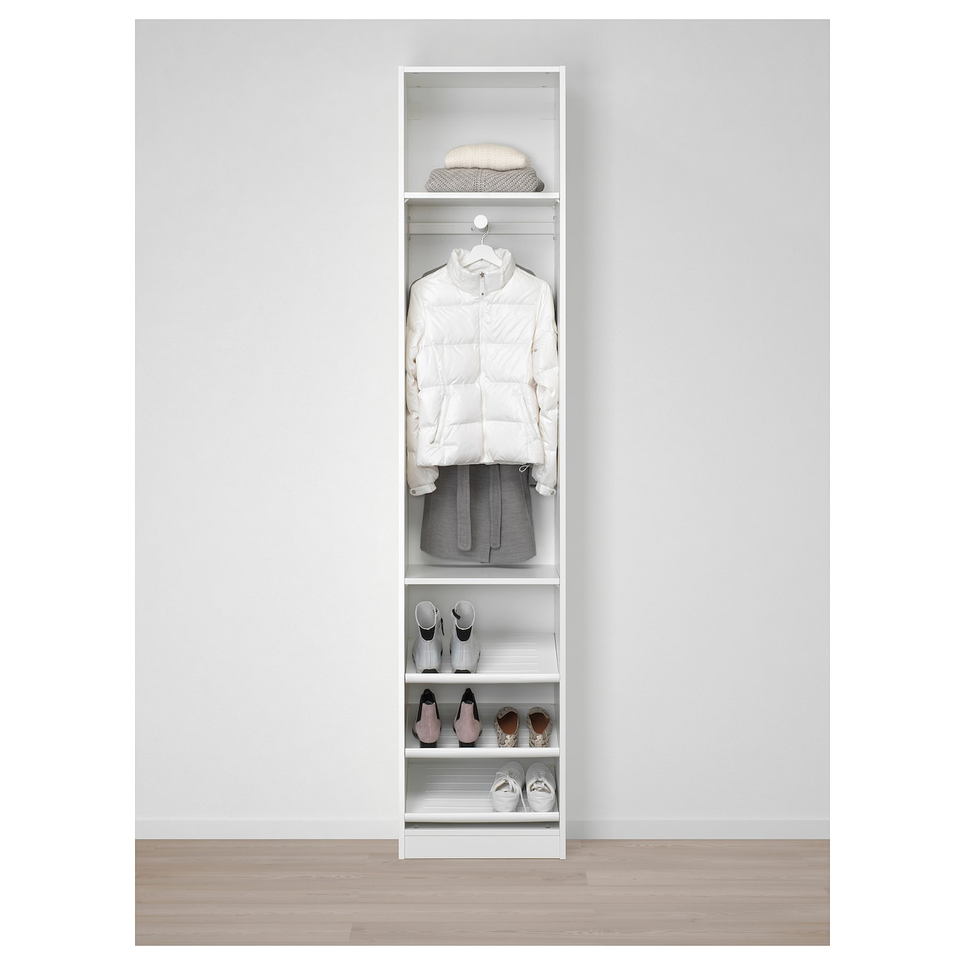 pax armoire penderie blanc forsand blanc 50 x 38 x 236 cm ikea. Black Bedroom Furniture Sets. Home Design Ideas