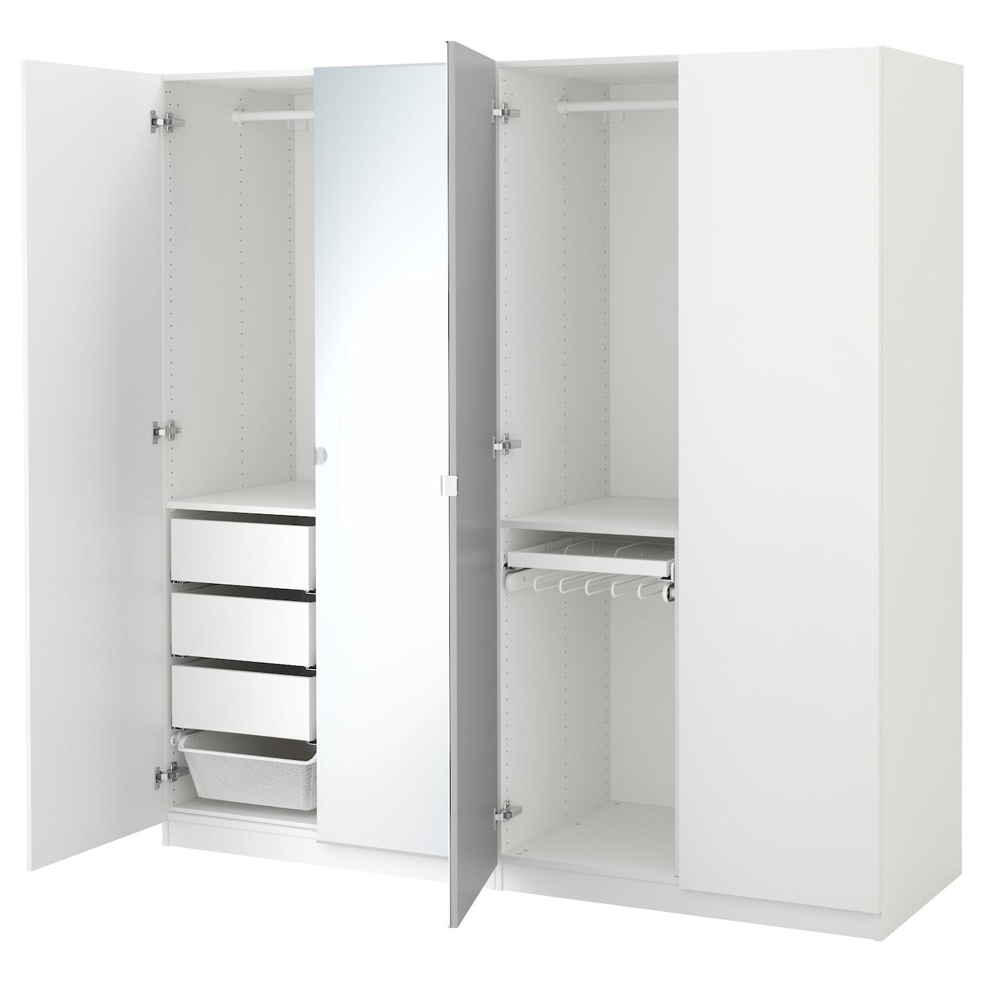 pax armoire penderie blanc forsand vikedal 200x60x201 cm ikea. Black Bedroom Furniture Sets. Home Design Ideas