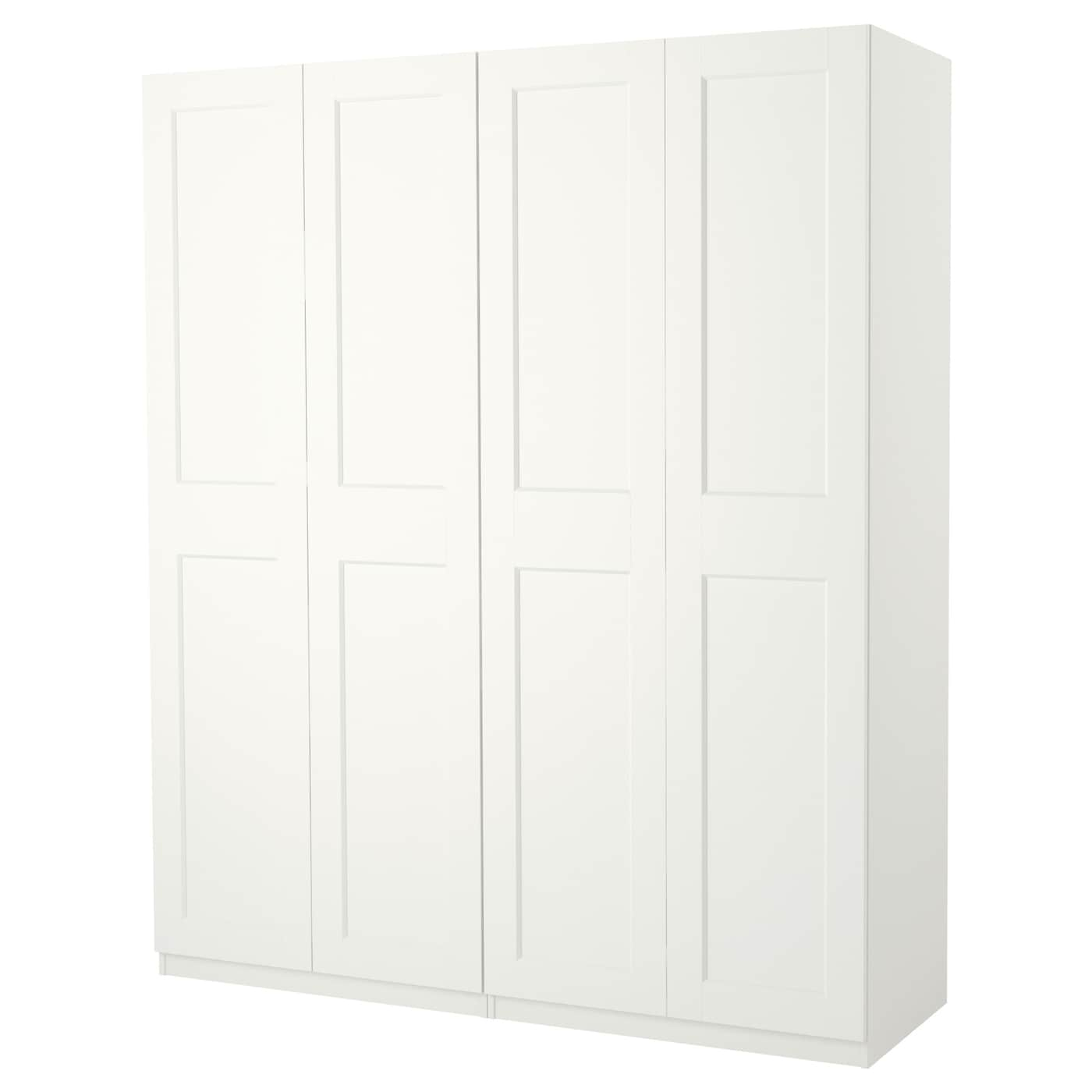 pax armoire penderie blanc grimo blanc 200 x 60 x 236 cm ikea. Black Bedroom Furniture Sets. Home Design Ideas