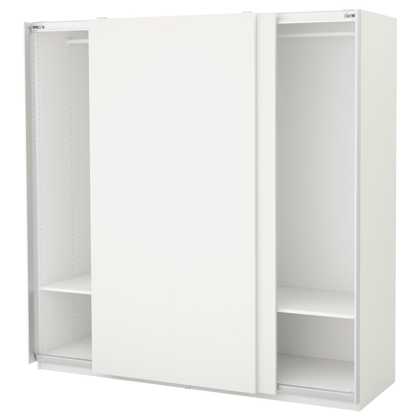 pax armoire penderie blanc hasvik blanc 200 x 66 x 201 cm ikea. Black Bedroom Furniture Sets. Home Design Ideas
