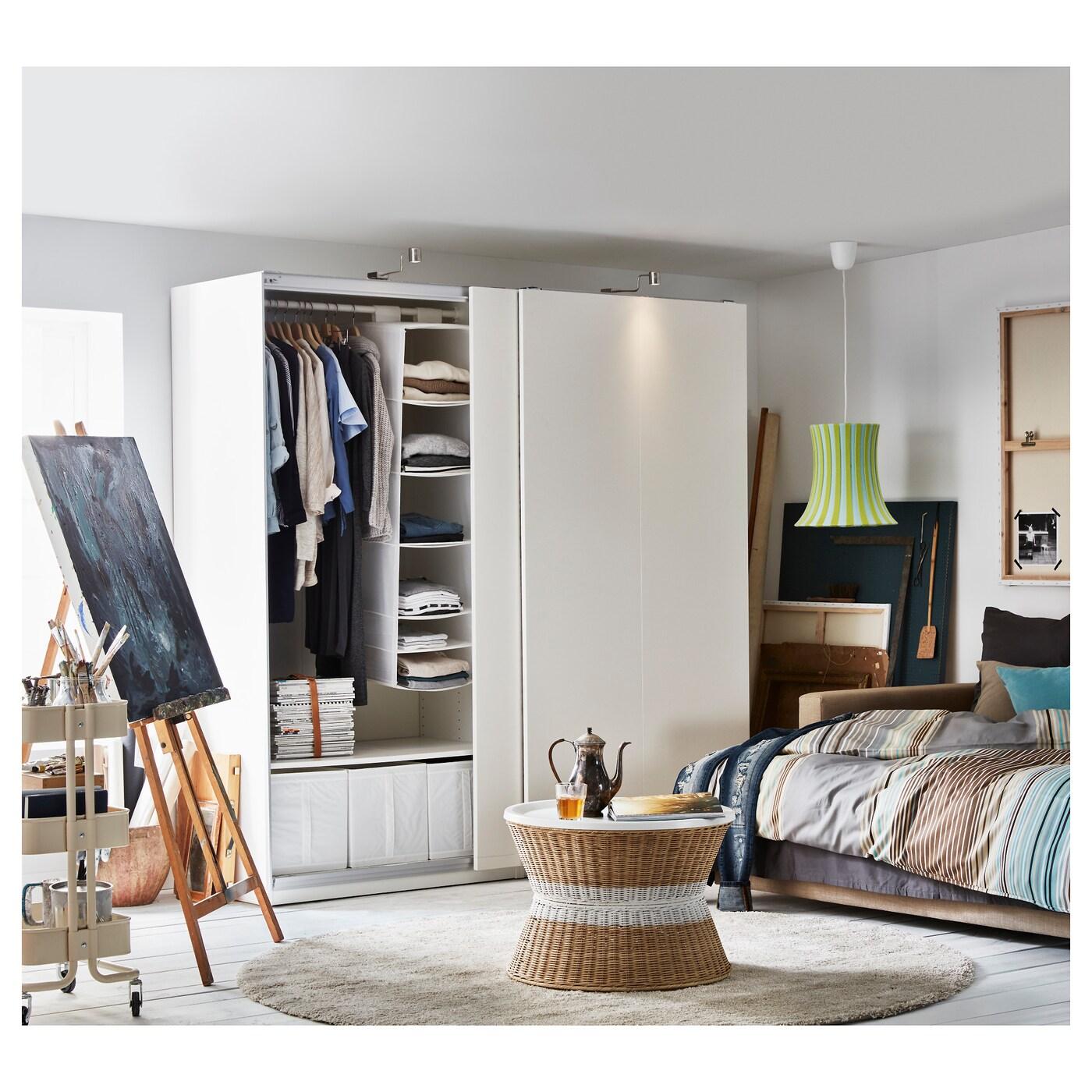 pax armoire penderie blanc hasvik blanc 200 x 66 x 201 cm. Black Bedroom Furniture Sets. Home Design Ideas