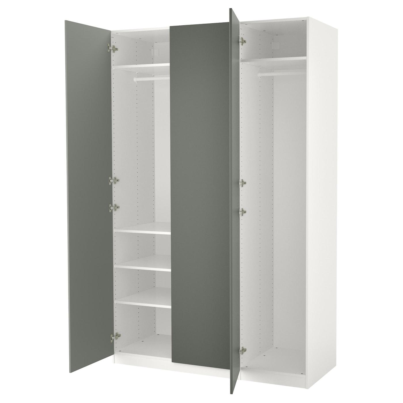 Pax armoire penderie blanc reinsvoll gris vert 150x60x236 cm ikea - Armoire ikea pax ...