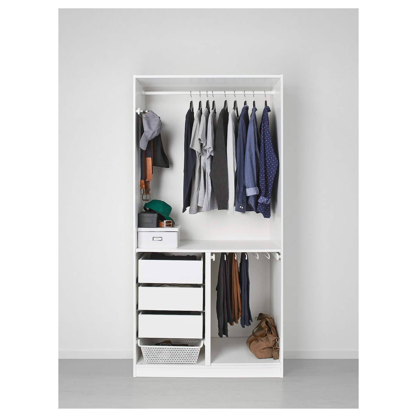 pax armoire penderie blanc tanem blanc 100x60x201 cm ikea. Black Bedroom Furniture Sets. Home Design Ideas