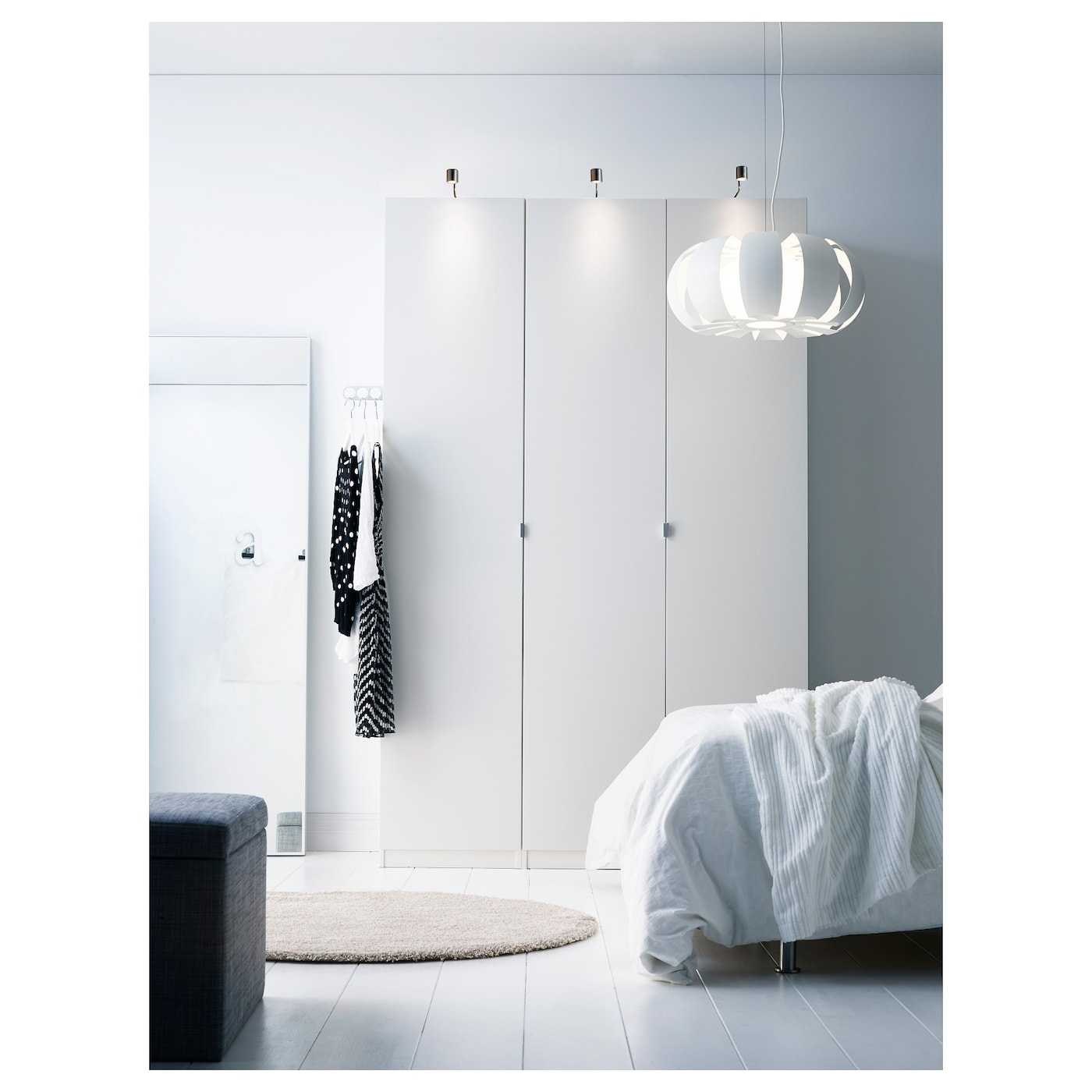 pax armoire penderie blanc tanem blanc 150x60x236 cm ikea. Black Bedroom Furniture Sets. Home Design Ideas