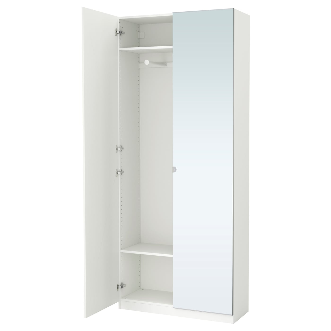 pax armoire penderie blanc tanem vikedal 100x38x236 cm ikea. Black Bedroom Furniture Sets. Home Design Ideas