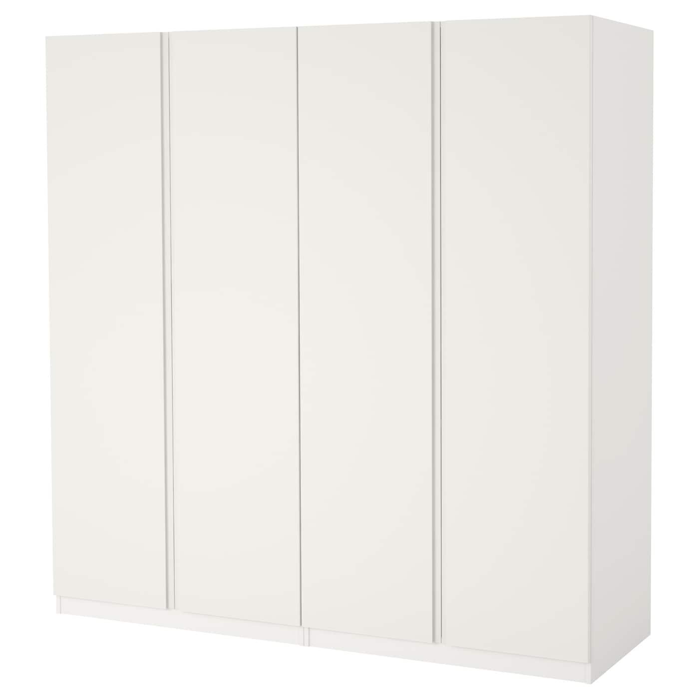 pax armoire penderie blanc vikanes blanc 200 x 60 x 201 cm. Black Bedroom Furniture Sets. Home Design Ideas
