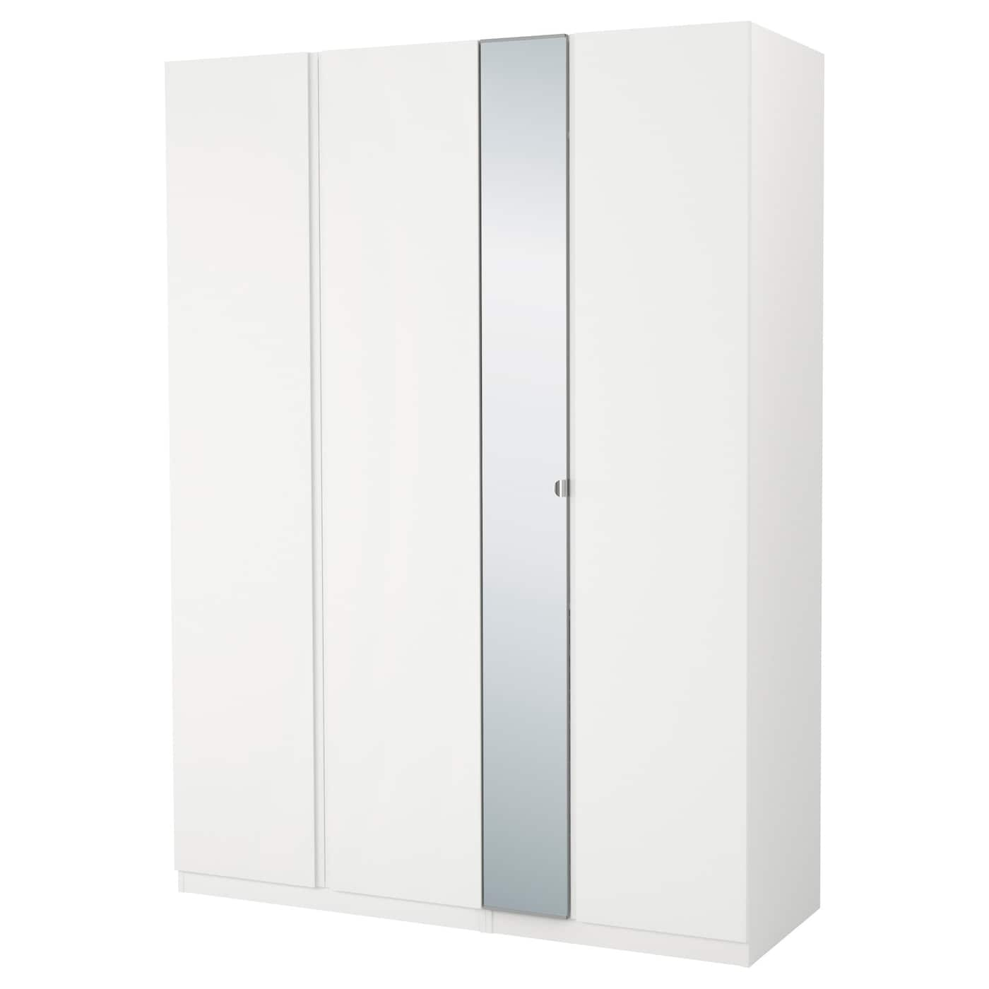 pax armoire penderie blanc vikanes vikedal 175x60x236 cm. Black Bedroom Furniture Sets. Home Design Ideas