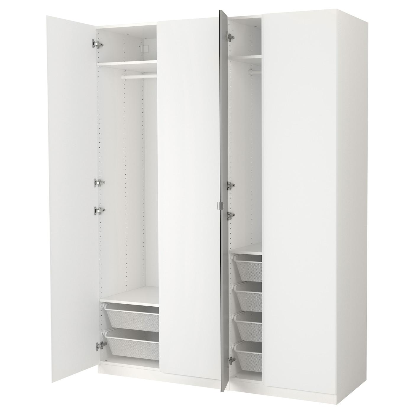 pax armoire penderie blanc vikanes vikedal 175 x 60 x 236 cm ikea. Black Bedroom Furniture Sets. Home Design Ideas