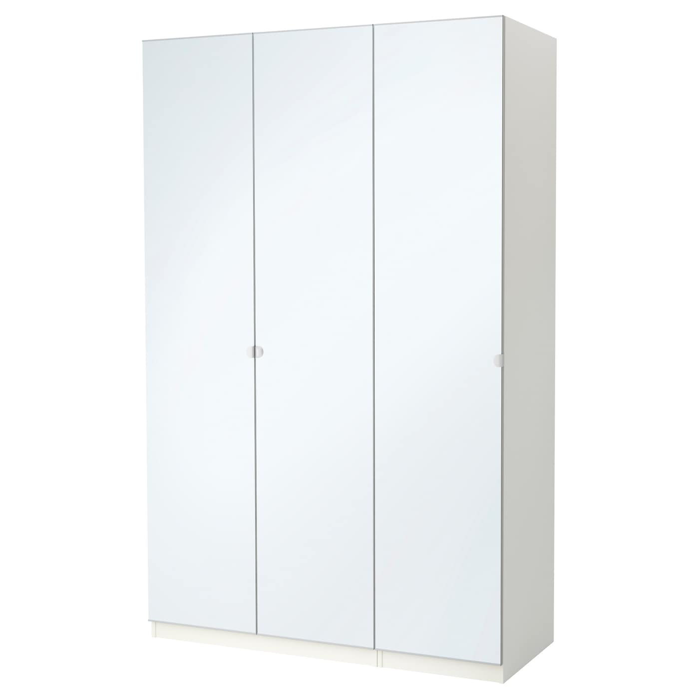 pax armoire penderie blanc vikedal miroir 150x60x236 cm ikea. Black Bedroom Furniture Sets. Home Design Ideas