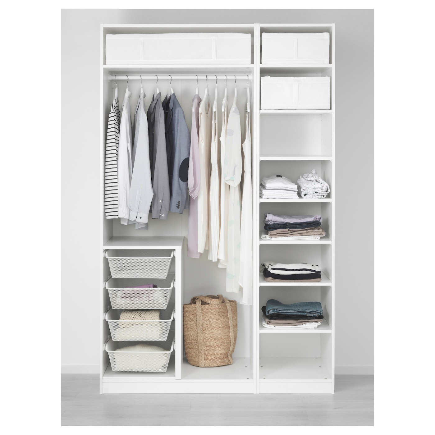 pax armoire penderie blanc 150x58x236 cm ikea. Black Bedroom Furniture Sets. Home Design Ideas