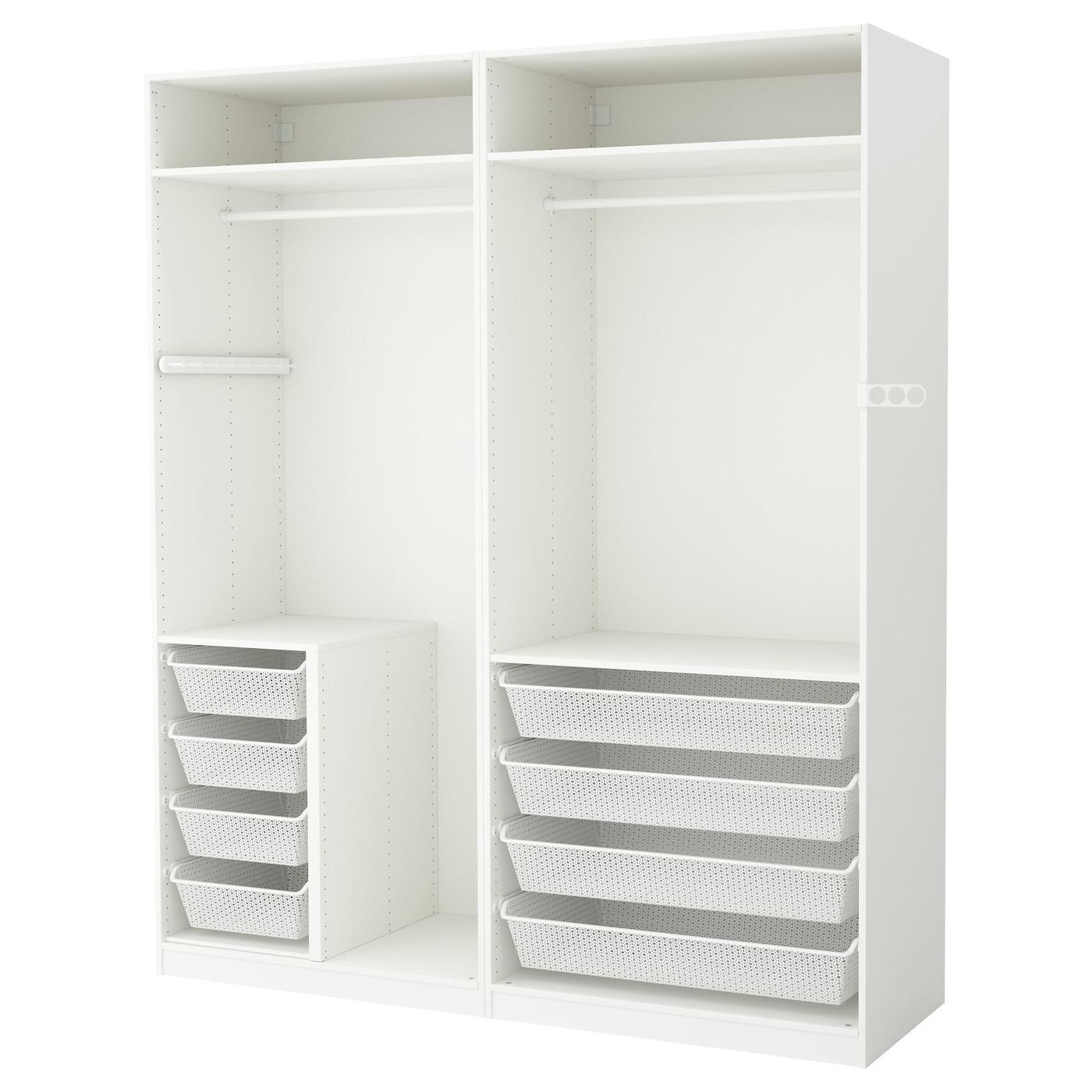 pax armoire penderie blanc 200 x 58 x 236 cm ikea. Black Bedroom Furniture Sets. Home Design Ideas