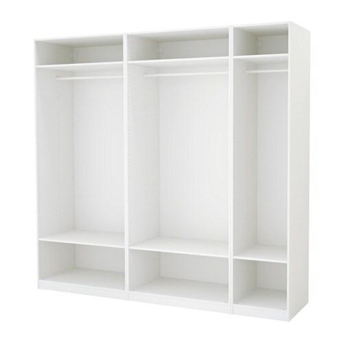 pax armoire penderie blanc 250 x 58 x 236 cm ikea. Black Bedroom Furniture Sets. Home Design Ideas