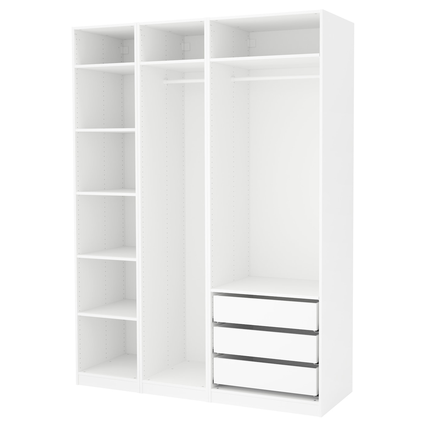 pax armoire penderie blanc 175 x 58 x 236 cm ikea. Black Bedroom Furniture Sets. Home Design Ideas