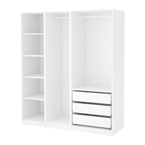 pax armoire penderie blanc 175 x 58 x 201 cm ikea. Black Bedroom Furniture Sets. Home Design Ideas