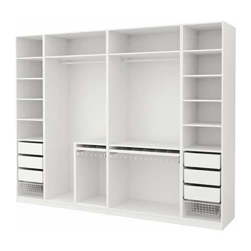 pax armoire penderie blanc 300x58x236 cm ikea. Black Bedroom Furniture Sets. Home Design Ideas