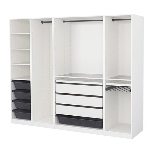 pax armoire penderie blanc 250 x 58 x 201 cm ikea. Black Bedroom Furniture Sets. Home Design Ideas