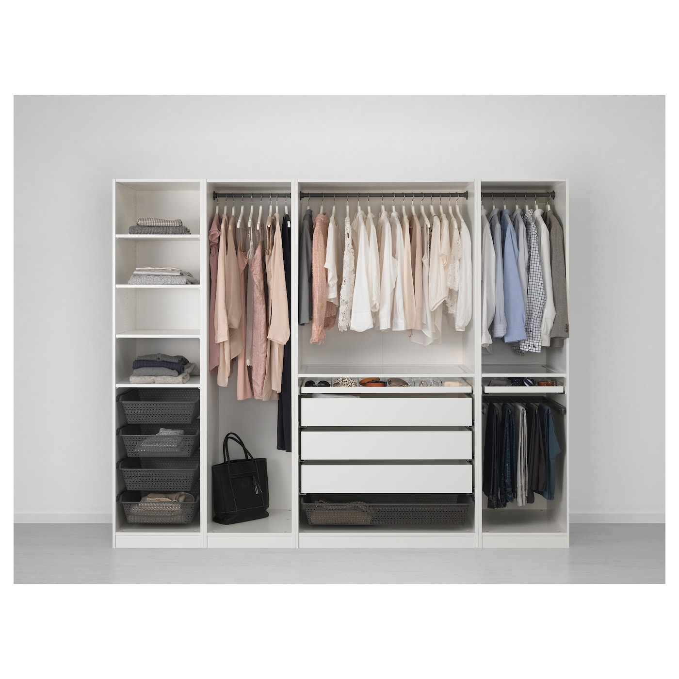 pax armoire penderie blanc 250x58x201 cm ikea. Black Bedroom Furniture Sets. Home Design Ideas