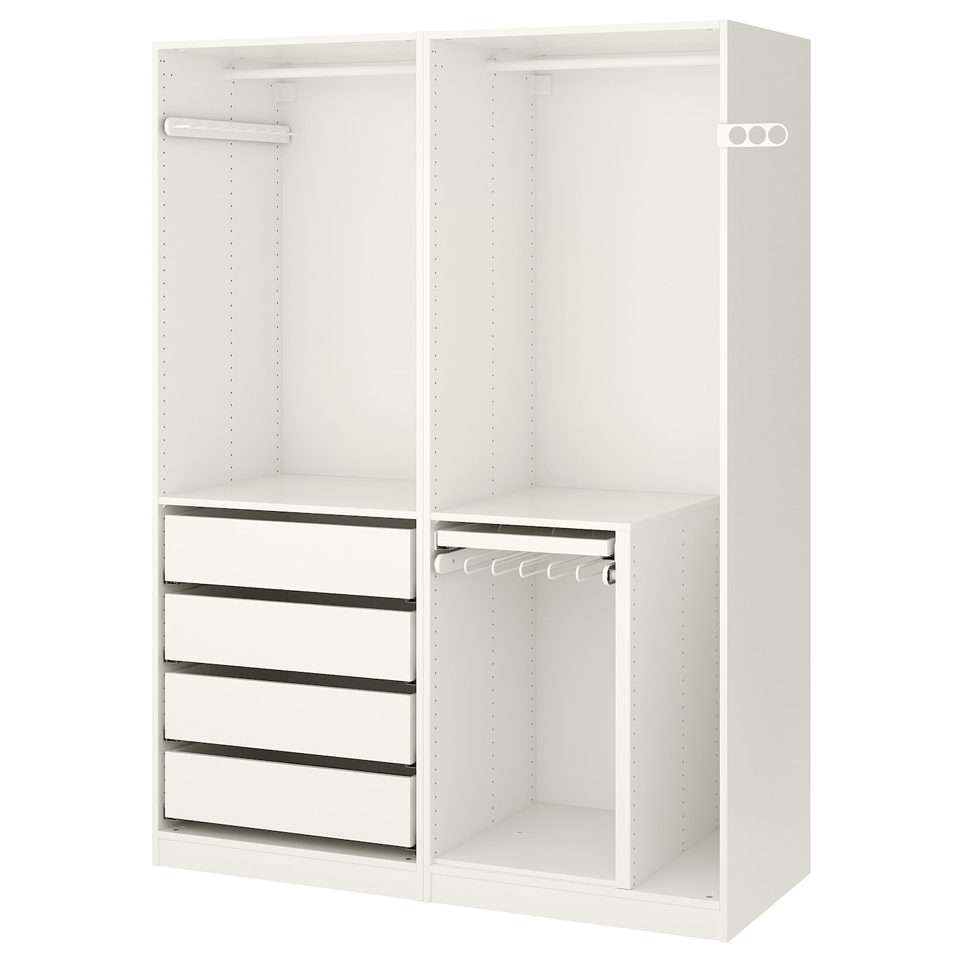 pax armoire penderie blanc 150 x 58 x 201 cm ikea. Black Bedroom Furniture Sets. Home Design Ideas