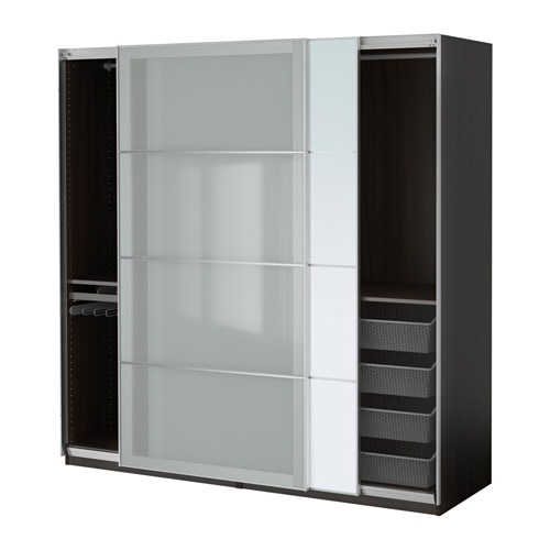 pax armoire penderie brun noir auli sekken 200x66x201 cm ikea. Black Bedroom Furniture Sets. Home Design Ideas