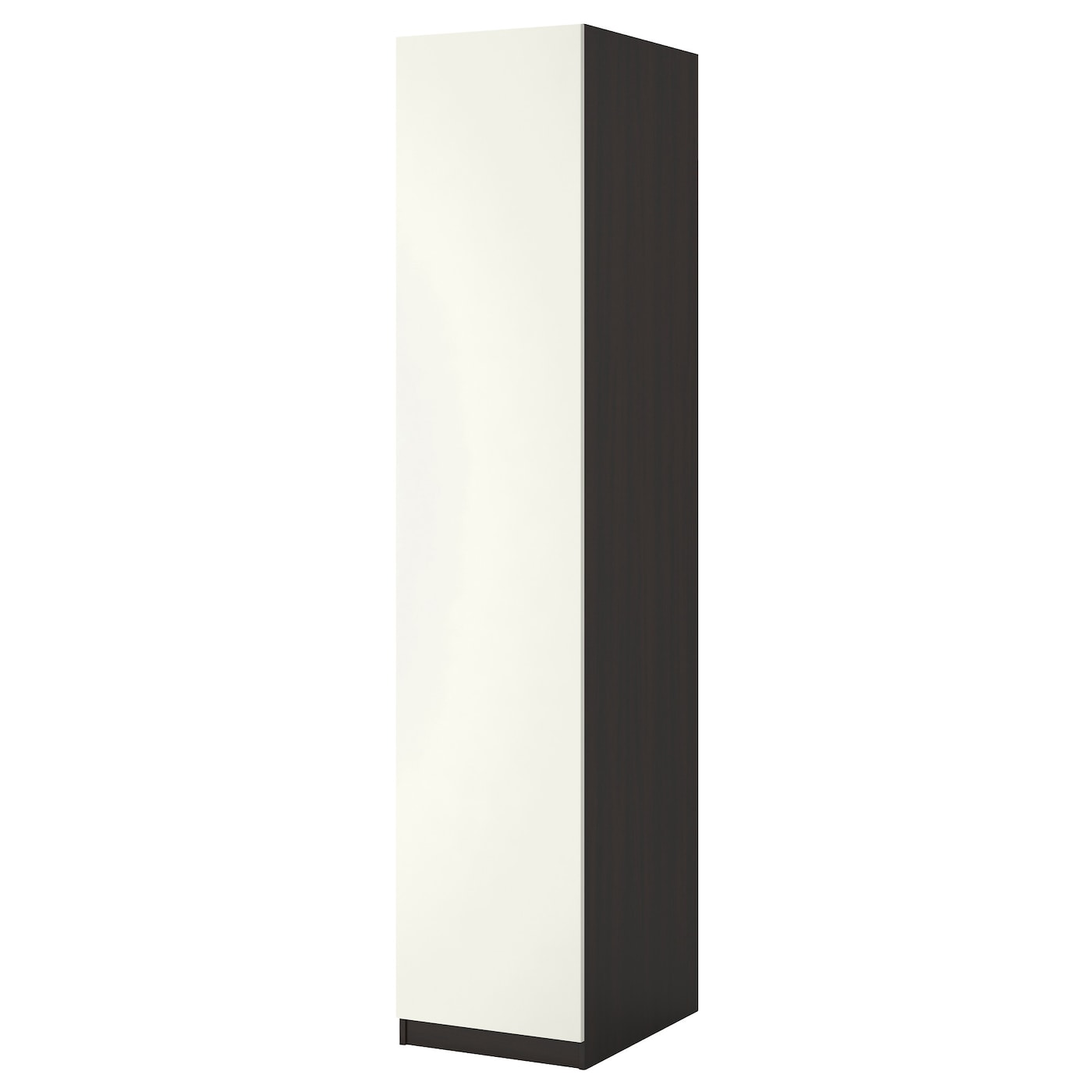 Pax armoire penderie brun noir ballstad blanc 50x60x201 cm for Armoire penderie noire