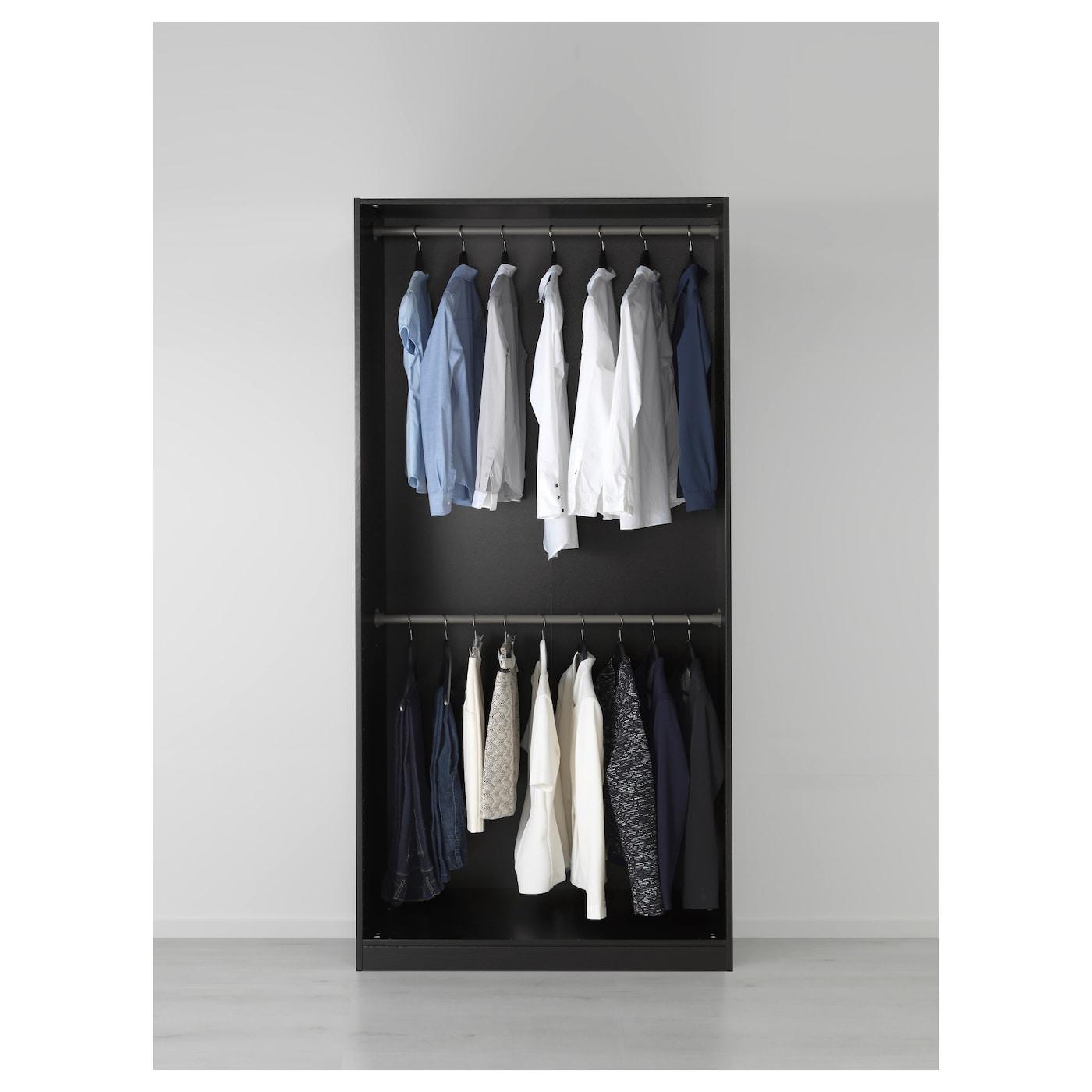 pax armoire penderie brun noir bergsbo brun noir 100x60x201 cm ikea. Black Bedroom Furniture Sets. Home Design Ideas