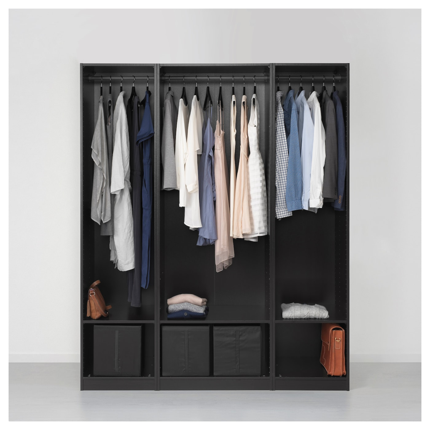 pax armoire penderie brun noir forsand vikedal 175 x 60 x. Black Bedroom Furniture Sets. Home Design Ideas