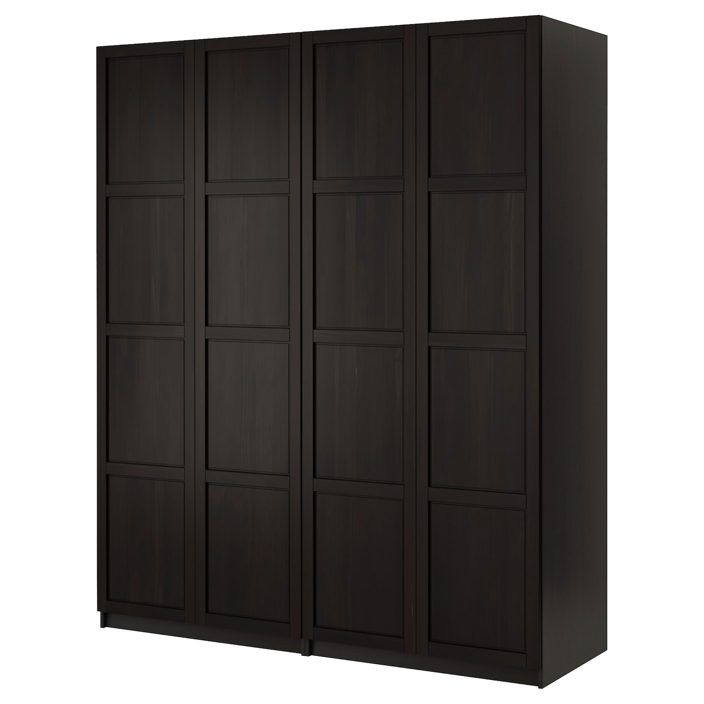 pax armoire penderie brun noir hemnes brun noir 200x60x236 cm ikea. Black Bedroom Furniture Sets. Home Design Ideas