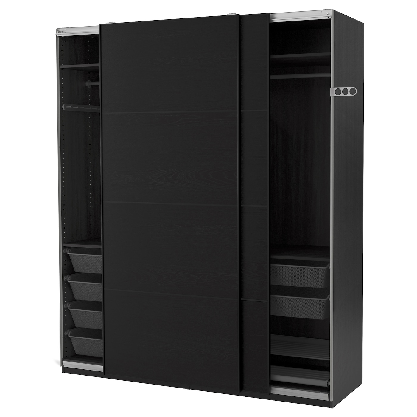 pax armoire penderie brun noir ilseng brun noir 200 x 66 x 236 cm ikea. Black Bedroom Furniture Sets. Home Design Ideas