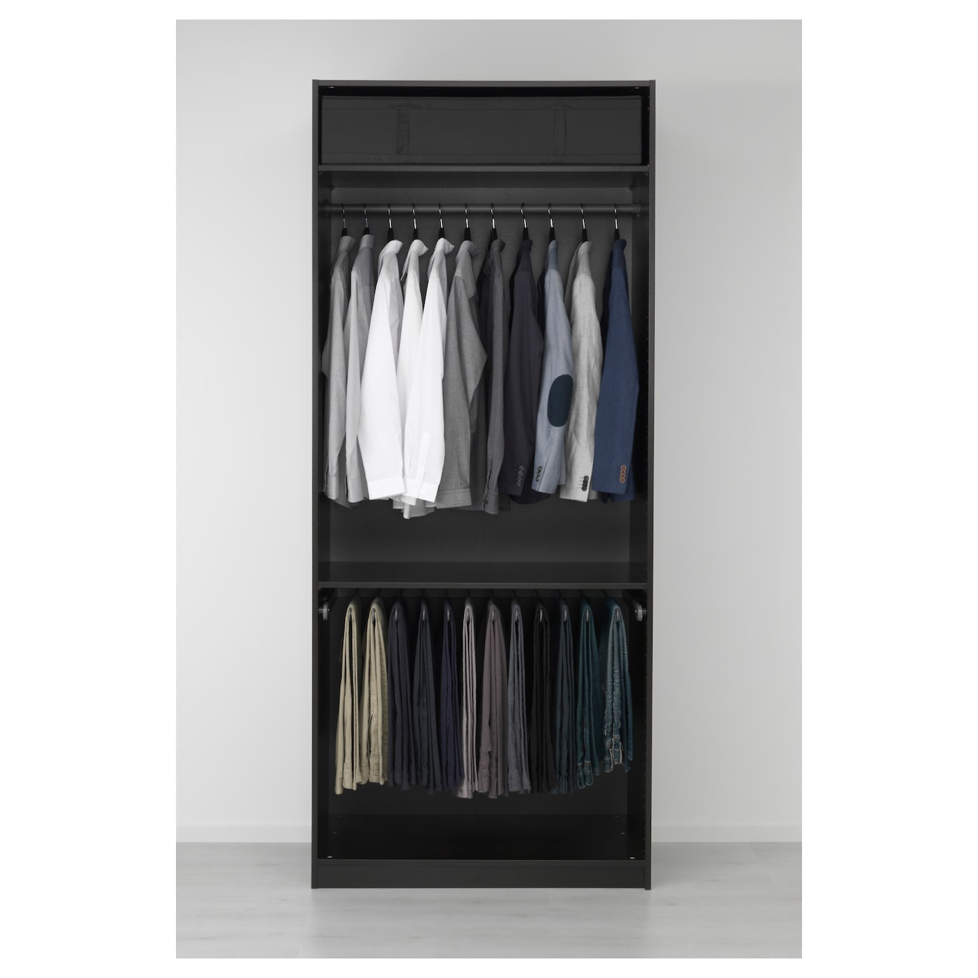 pax armoire penderie brun noir vikedal miroir 100 x 60 x 236 cm ikea. Black Bedroom Furniture Sets. Home Design Ideas