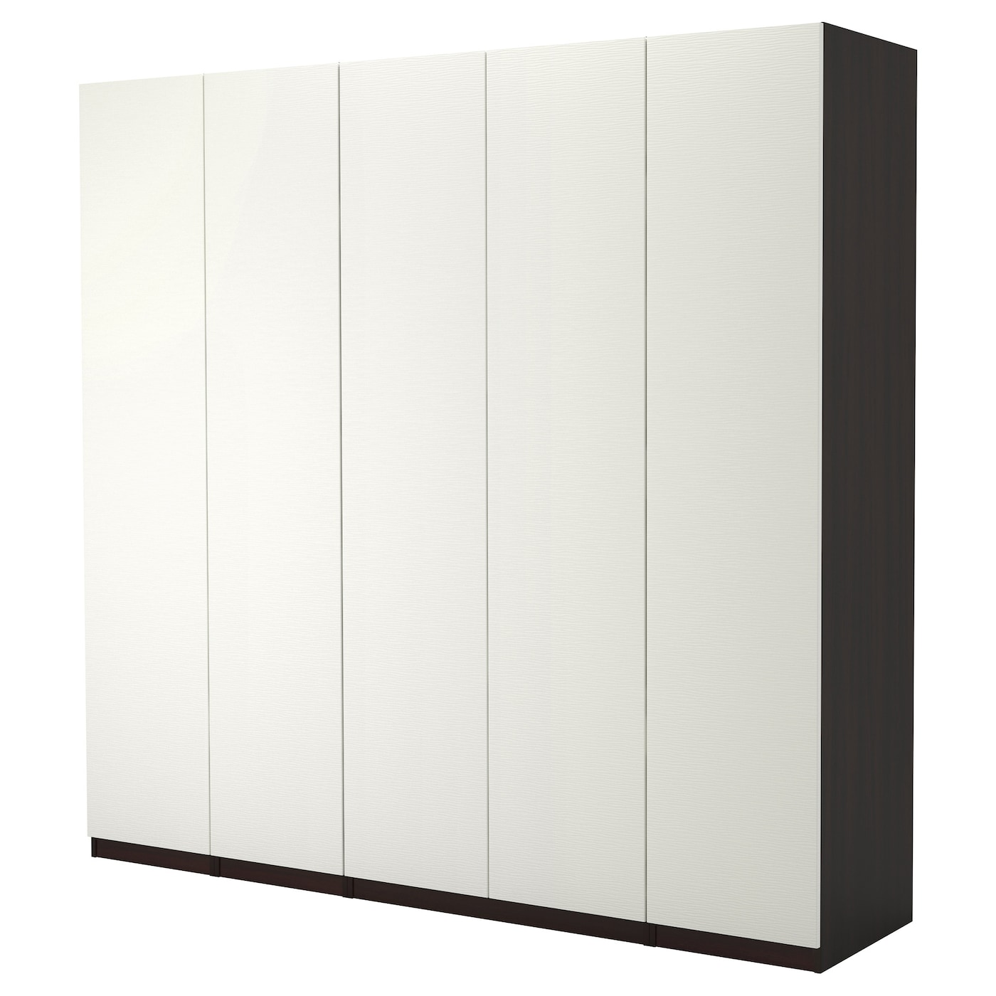 pax armoire penderie brun noir vinterbro blanc 250x60x236 cm ikea. Black Bedroom Furniture Sets. Home Design Ideas