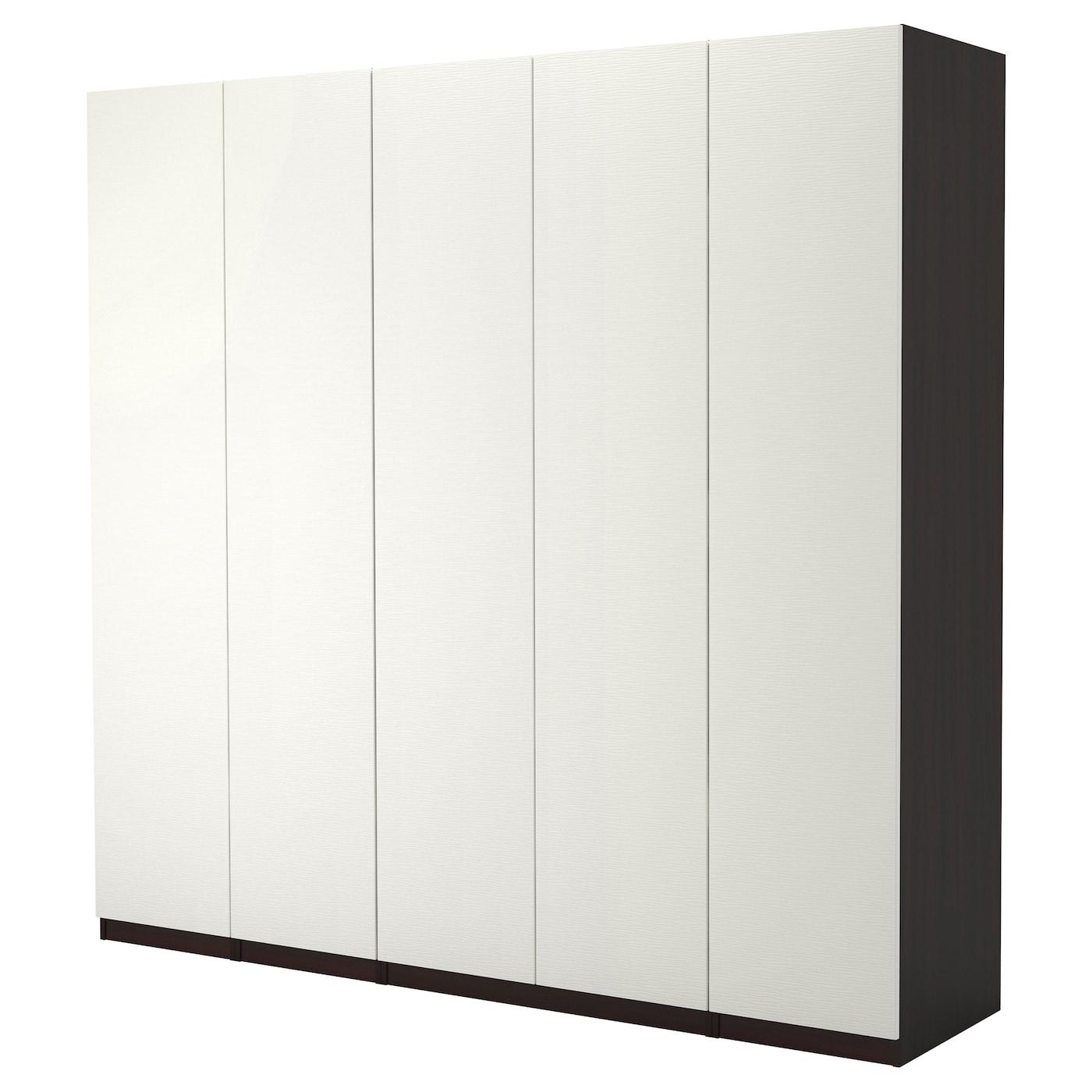 pax armoire penderie brun noir vinterbro blanc 250x60x236. Black Bedroom Furniture Sets. Home Design Ideas